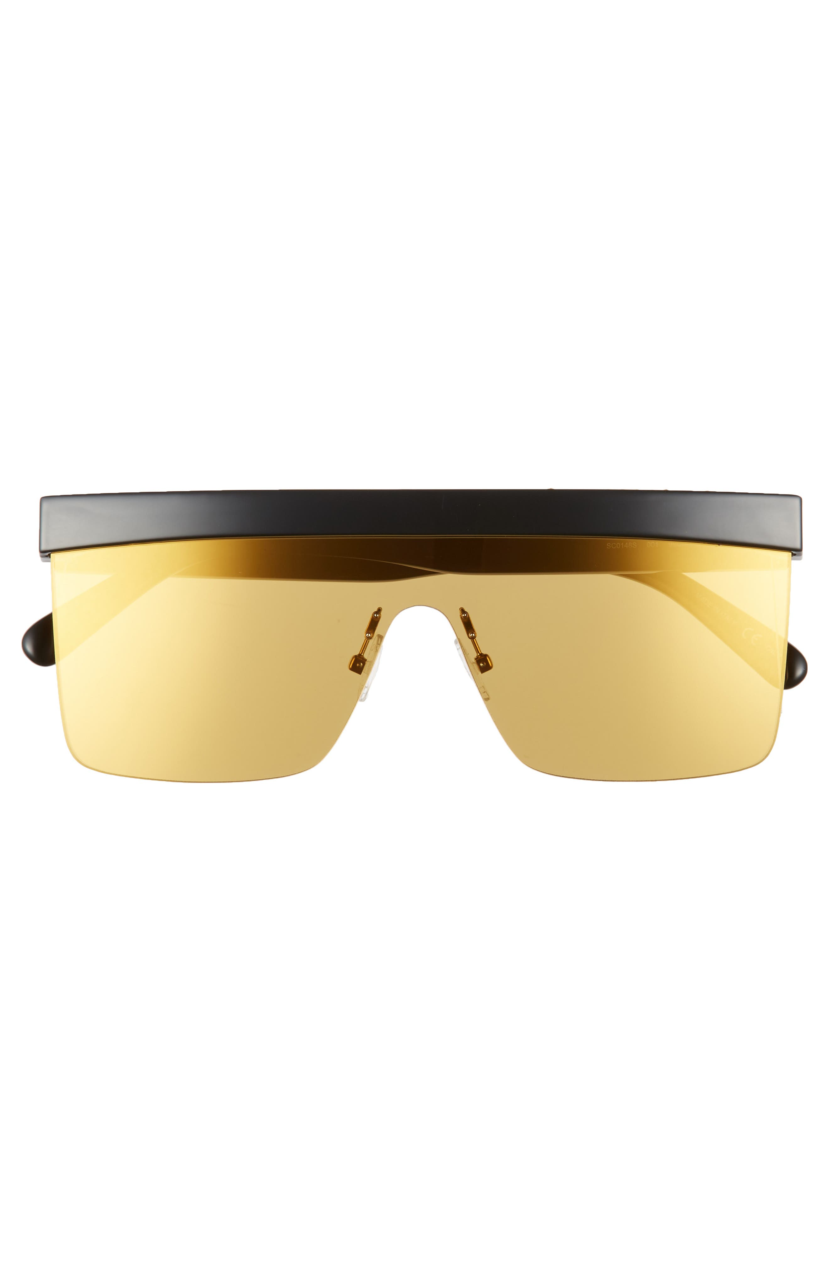 99mm Shield Sunglasses,                             Alternate thumbnail 3, color,                             BLACK