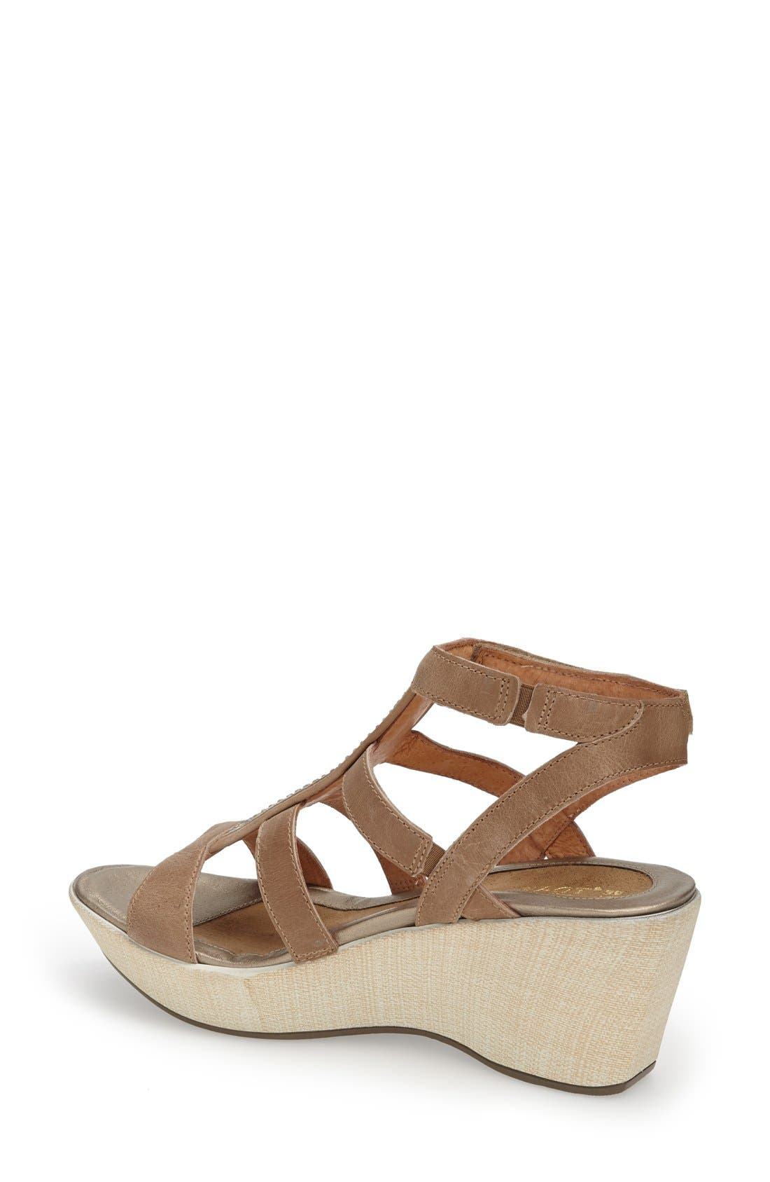 'Mystery' Platform Wedge Sandal,                             Alternate thumbnail 4, color,