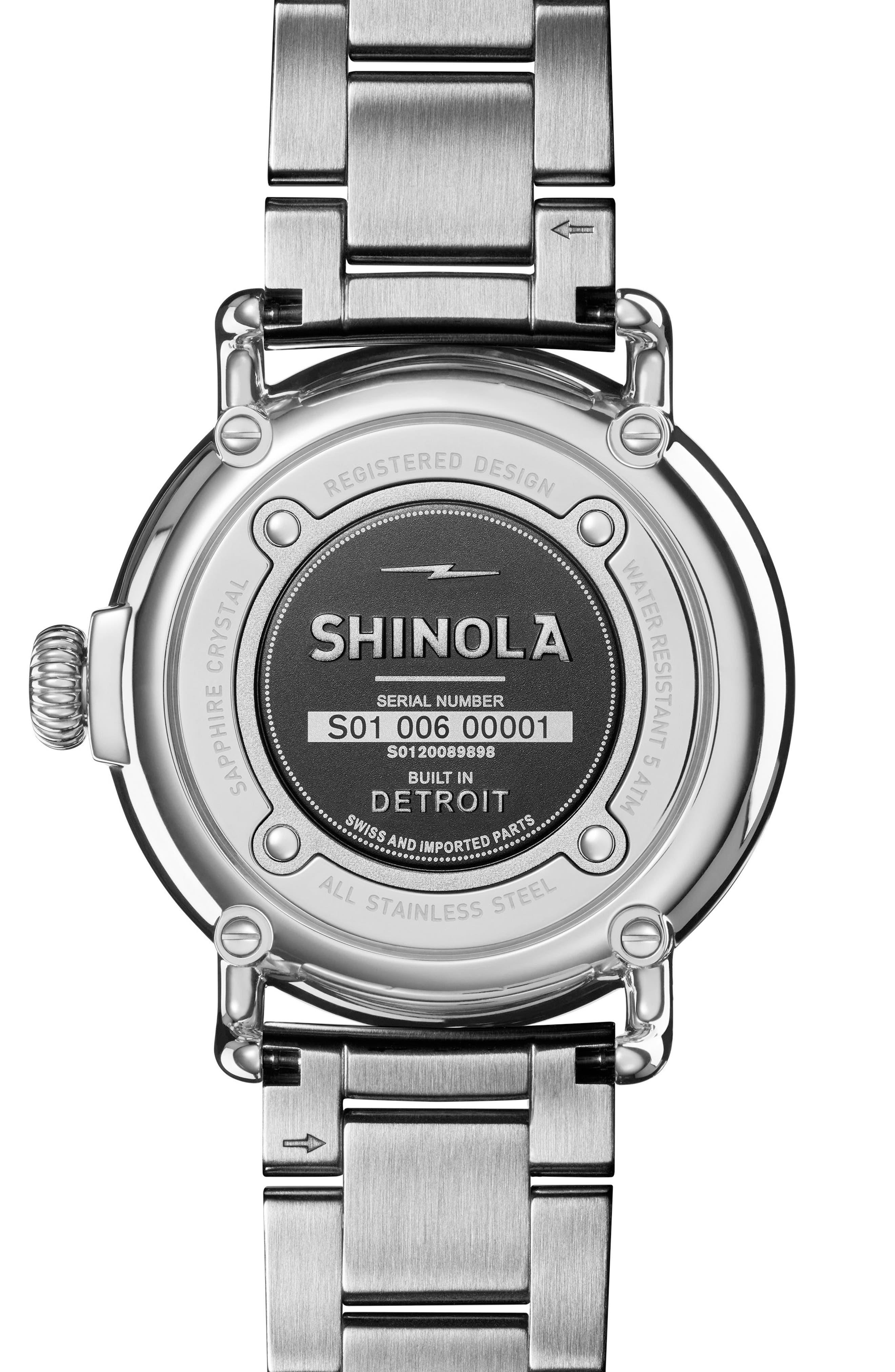 The Runwell Bracelet Watch, 36mm,                             Alternate thumbnail 2, color,                             ROSE GOLD/ WHITE/ SILVER