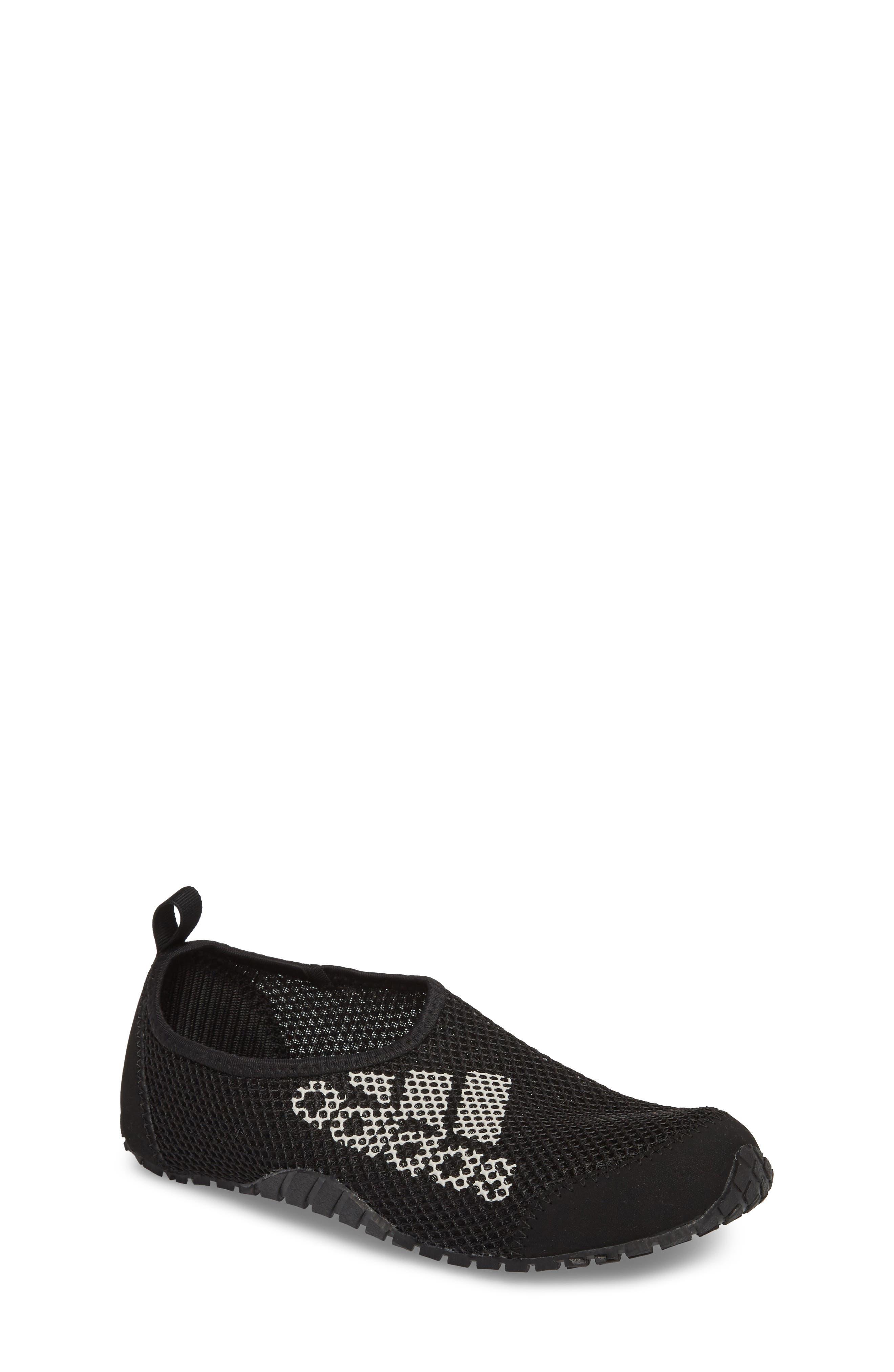 Kurobe Mesh Slip-On Water Shoe,                             Main thumbnail 1, color,                             BLACK/ BLACK GREY ONE