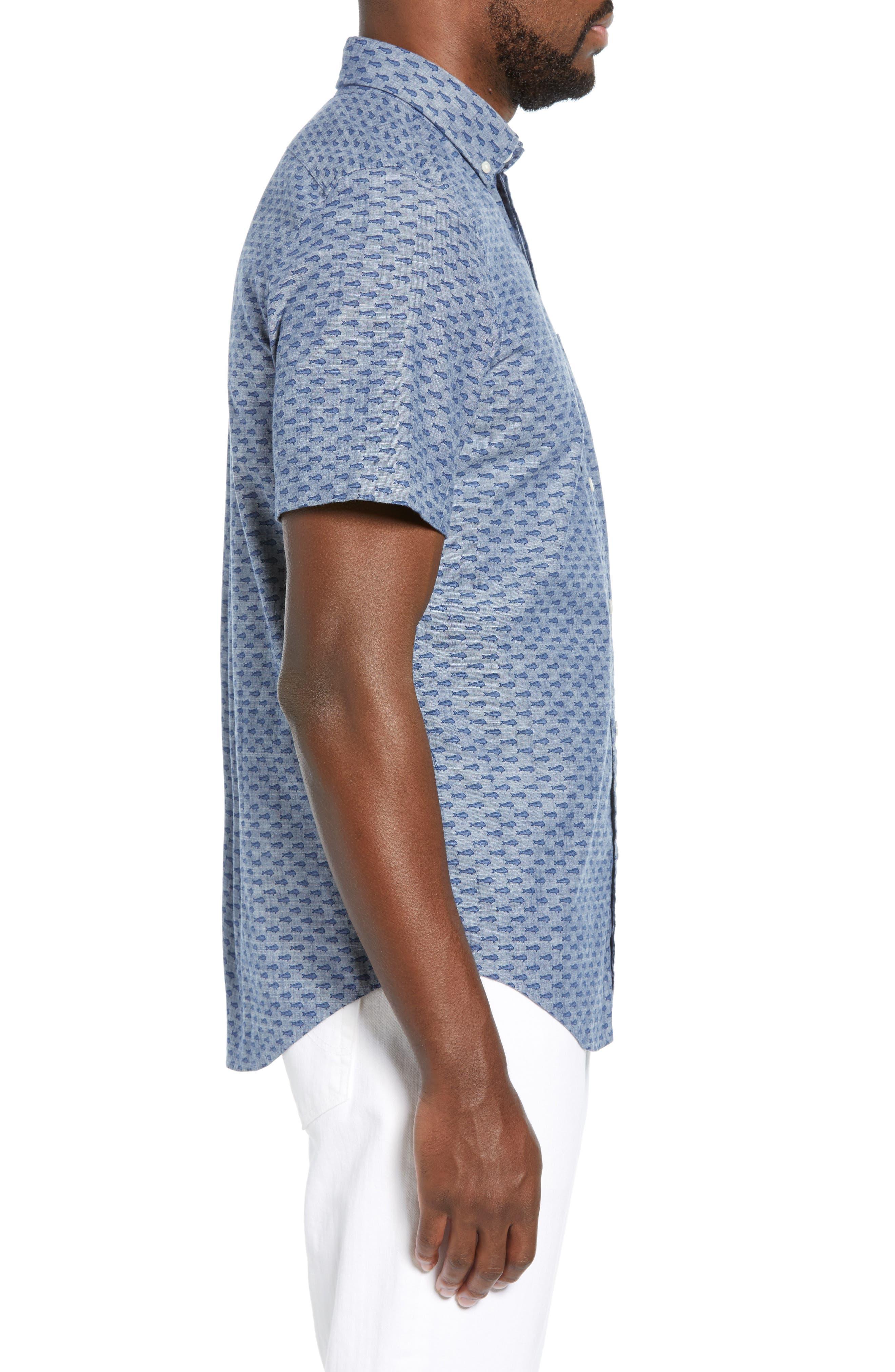 VINEYARD VINES,                             Murray Slim Fit Sport Shirt,                             Alternate thumbnail 4, color,                             SKYFALL