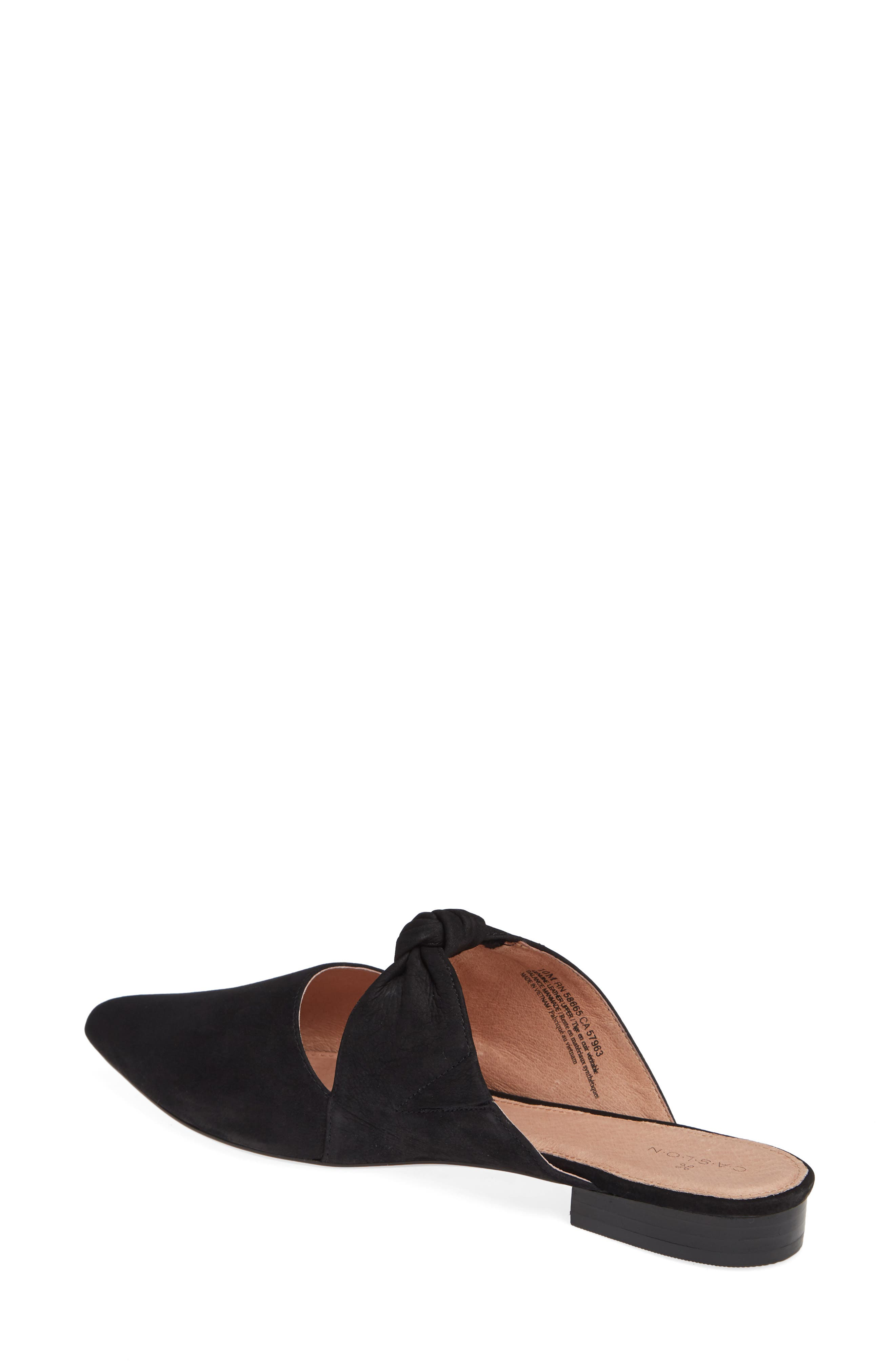 Luke Knotted Mule,                             Alternate thumbnail 2, color,                             BLACK NUBUCK