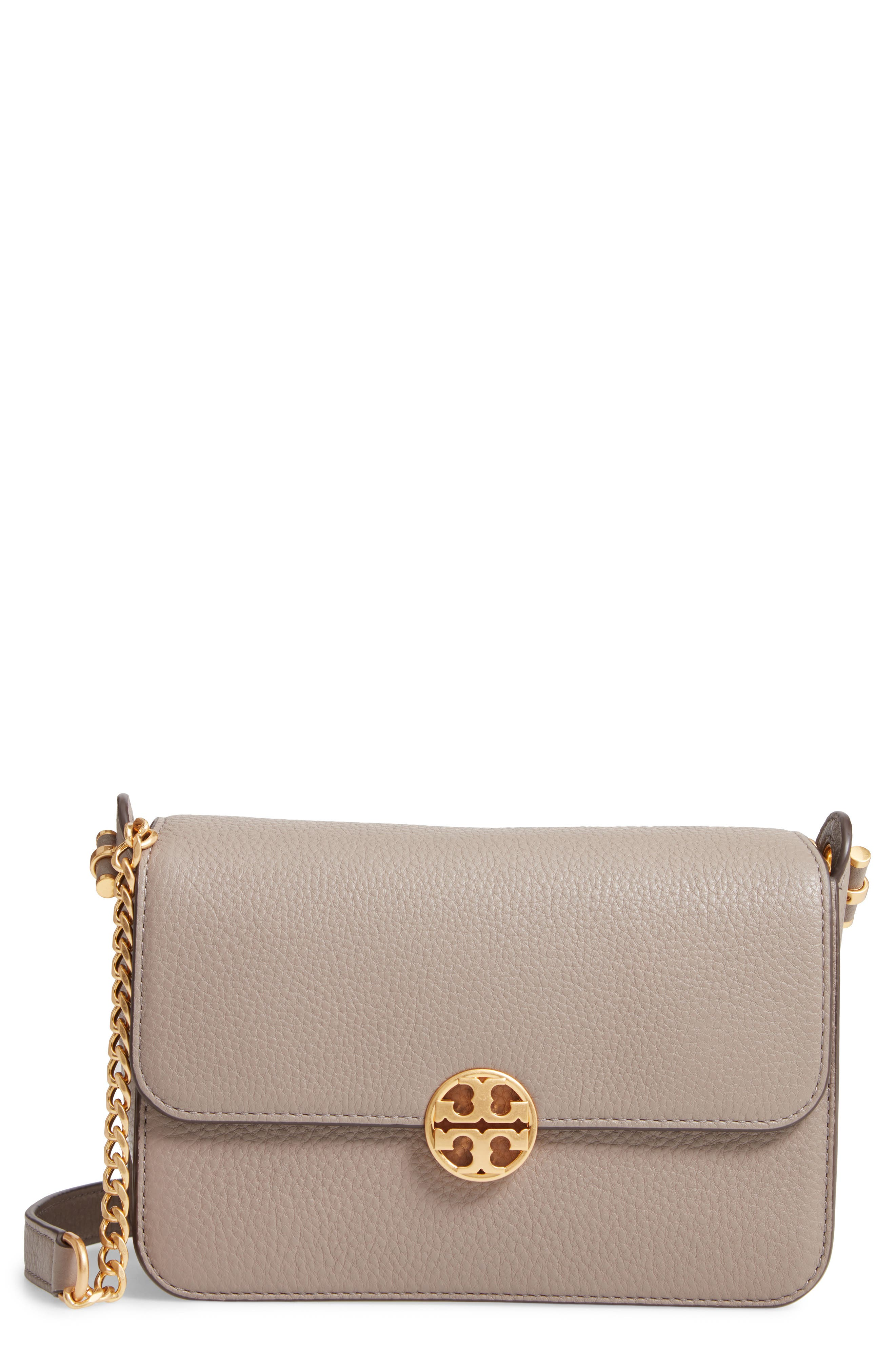 Chelsea Leather Crossbody Bag,                         Main,                         color, GRAY HERON