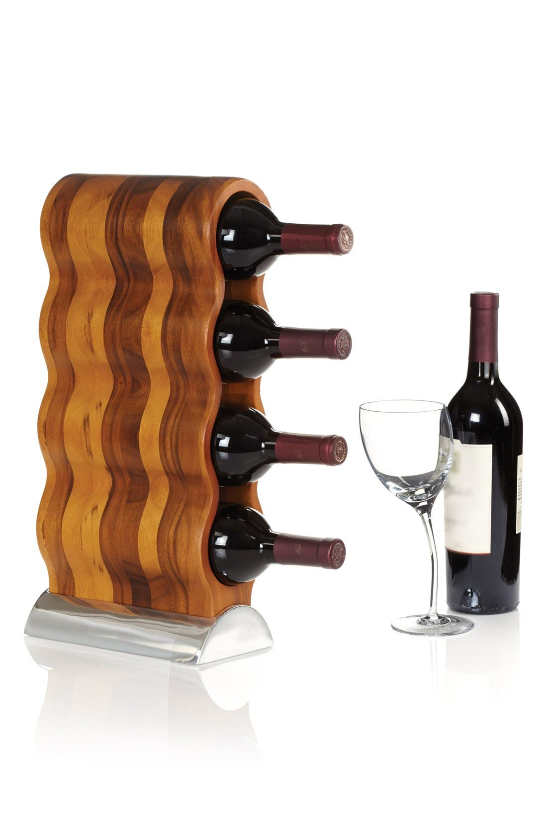 Curvo Wine Rack,                             Alternate thumbnail 3, color,                             SILVER