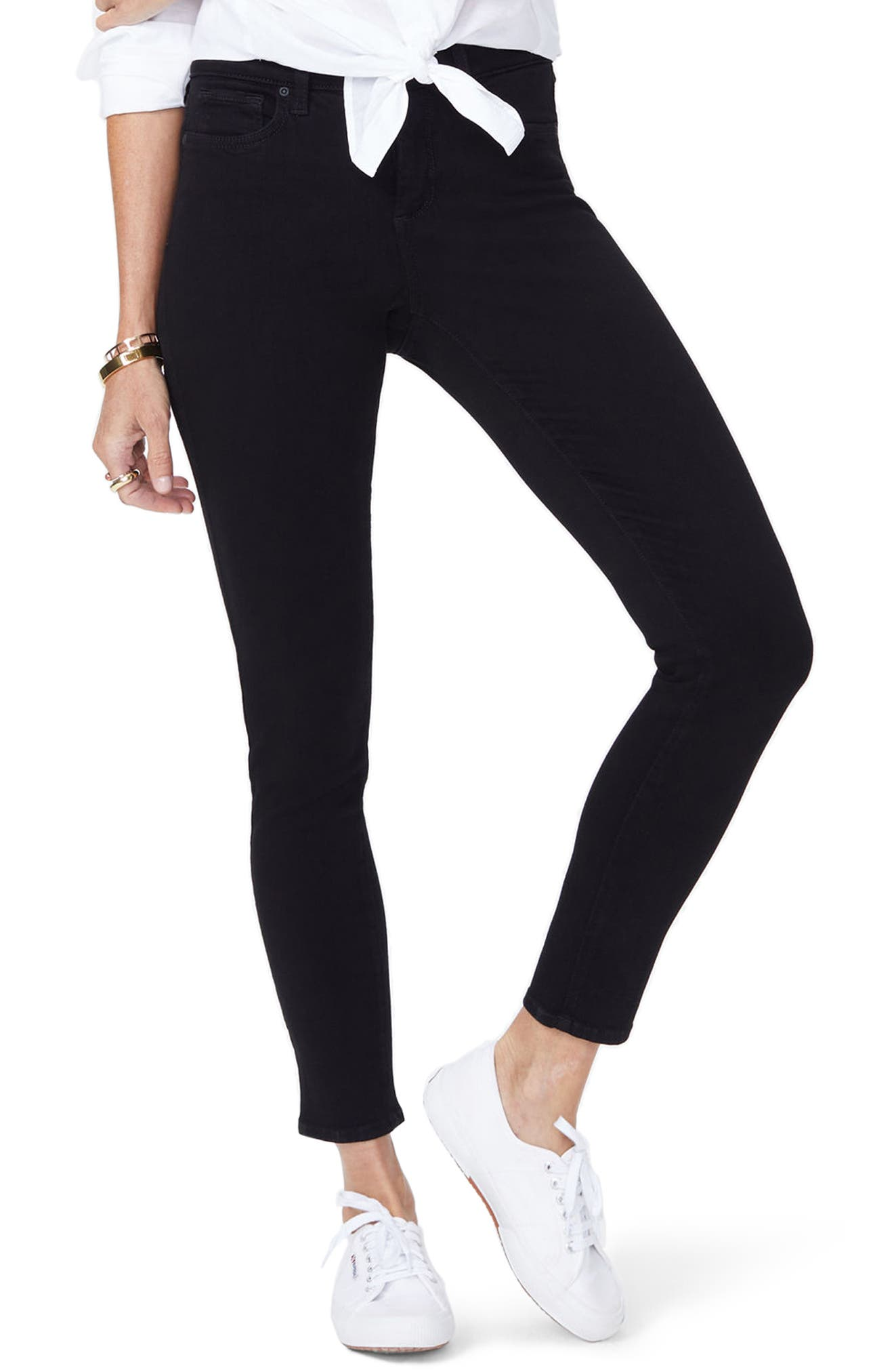 Ami Stretch Super Skinny Jeans,                             Main thumbnail 1, color,                             001