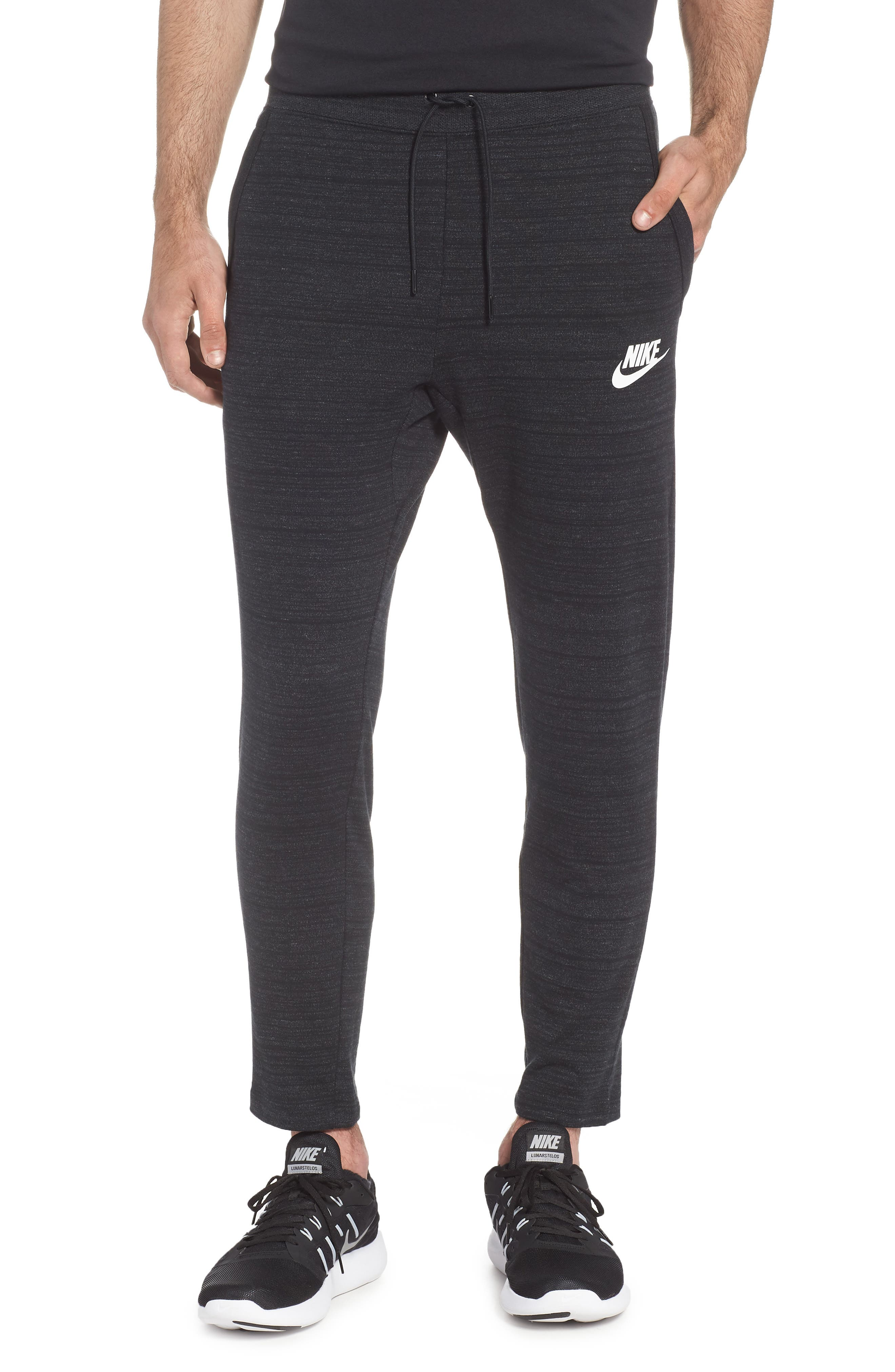 NSW Advance 15 Jogger Pants,                         Main,                         color, BLACK/ HEATHER/ WHITE
