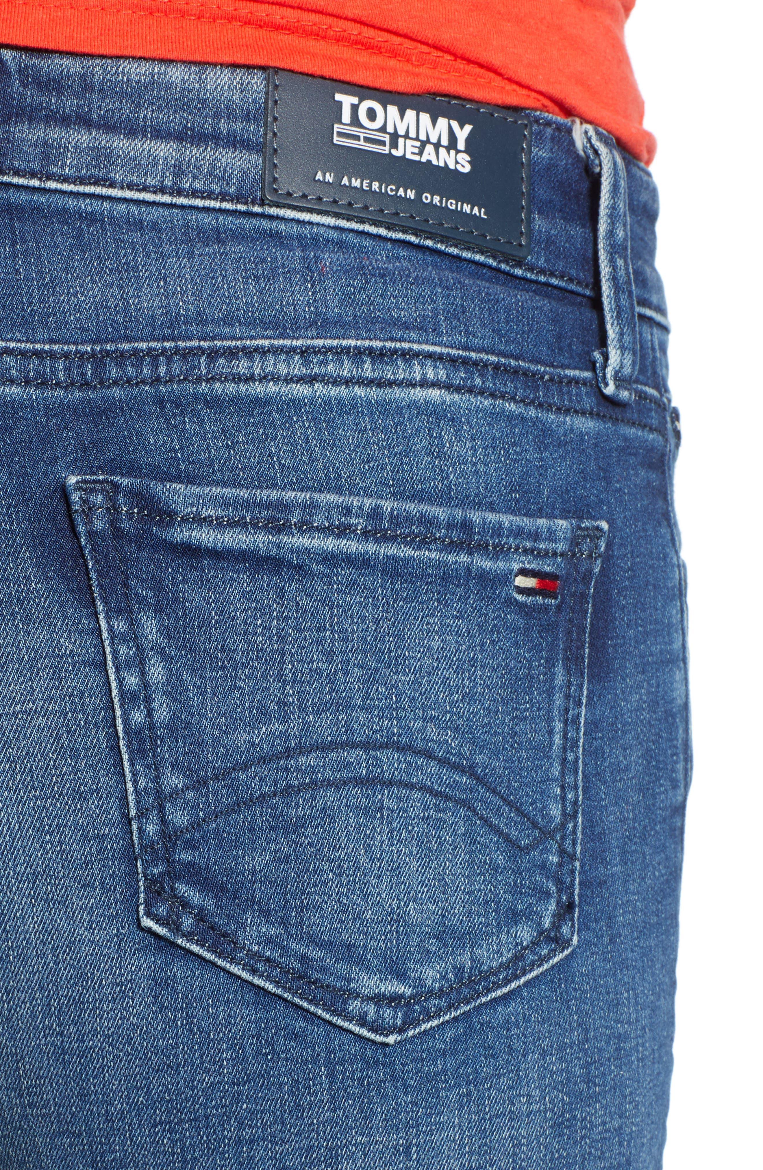 TJW Denim Shorts,                             Alternate thumbnail 4, color,                             400