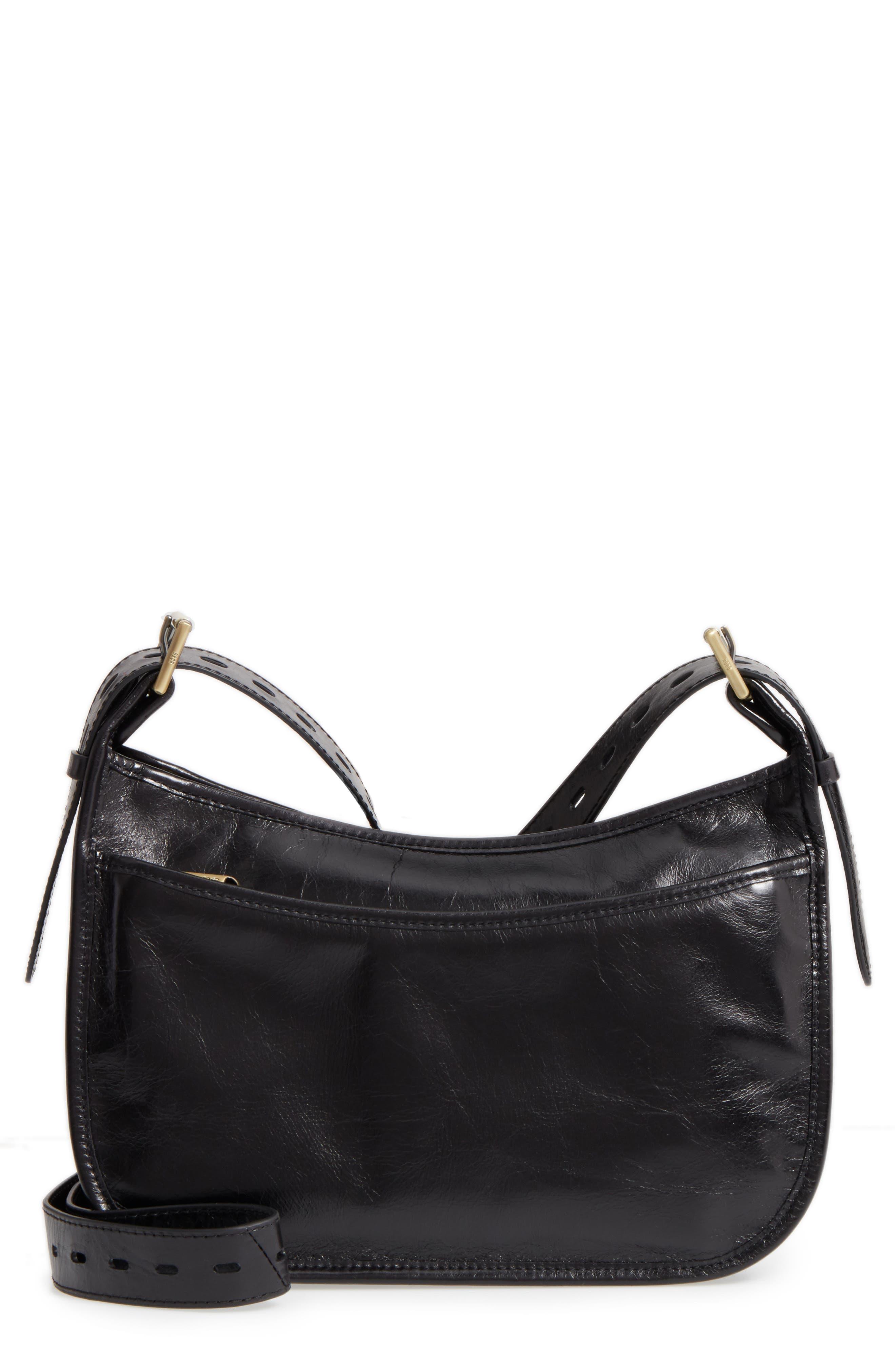 Chase Calfskin Leather Crossbody Bag,                             Main thumbnail 1, color,                             BLACK