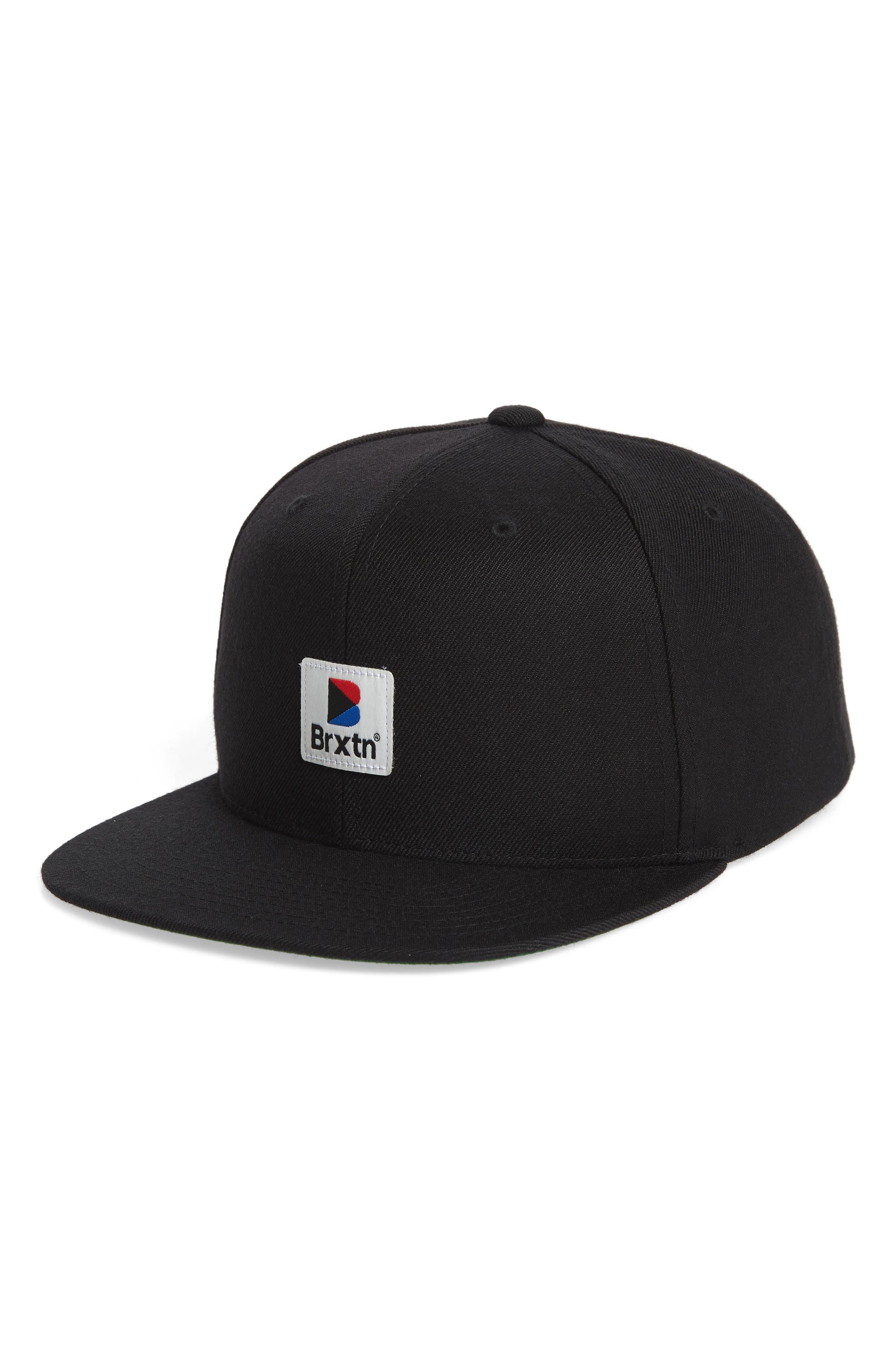 Stowell Snapback Cap,                             Main thumbnail 1, color,                             BLACK