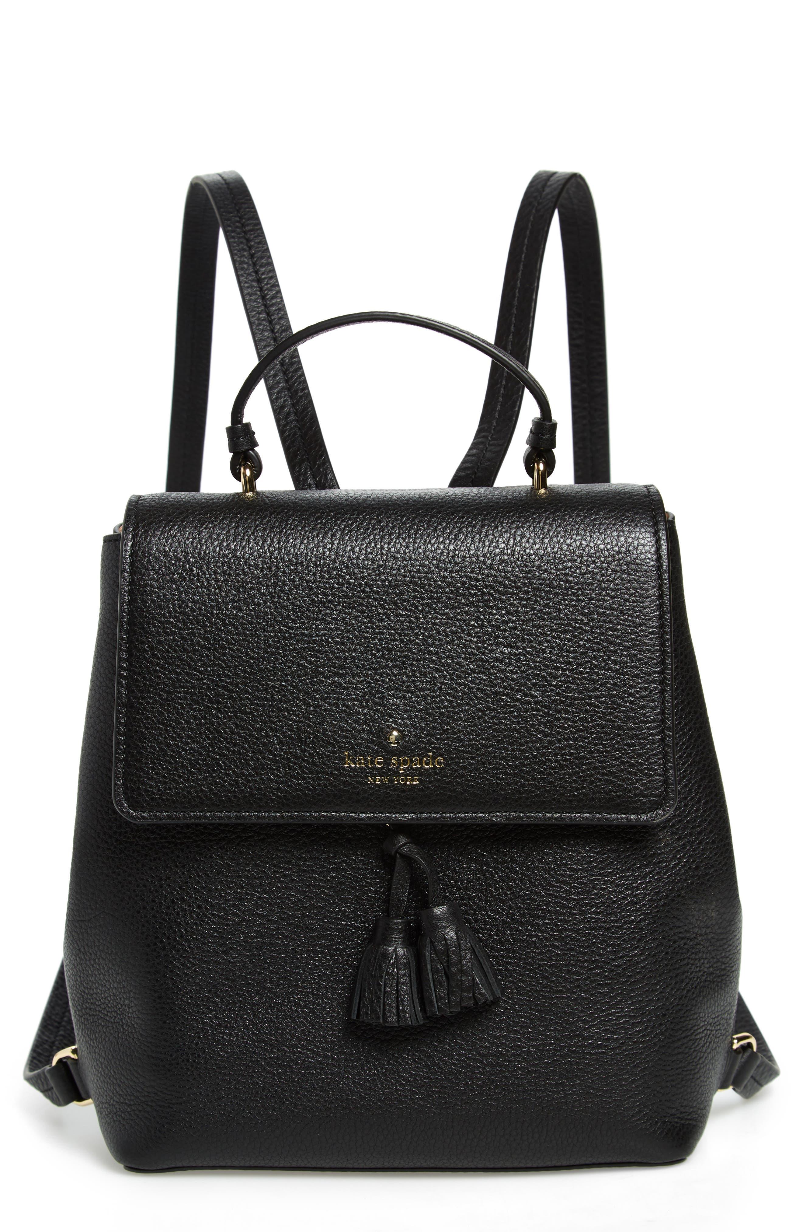 hayes street - teba leather backpack,                         Main,                         color, BLACK