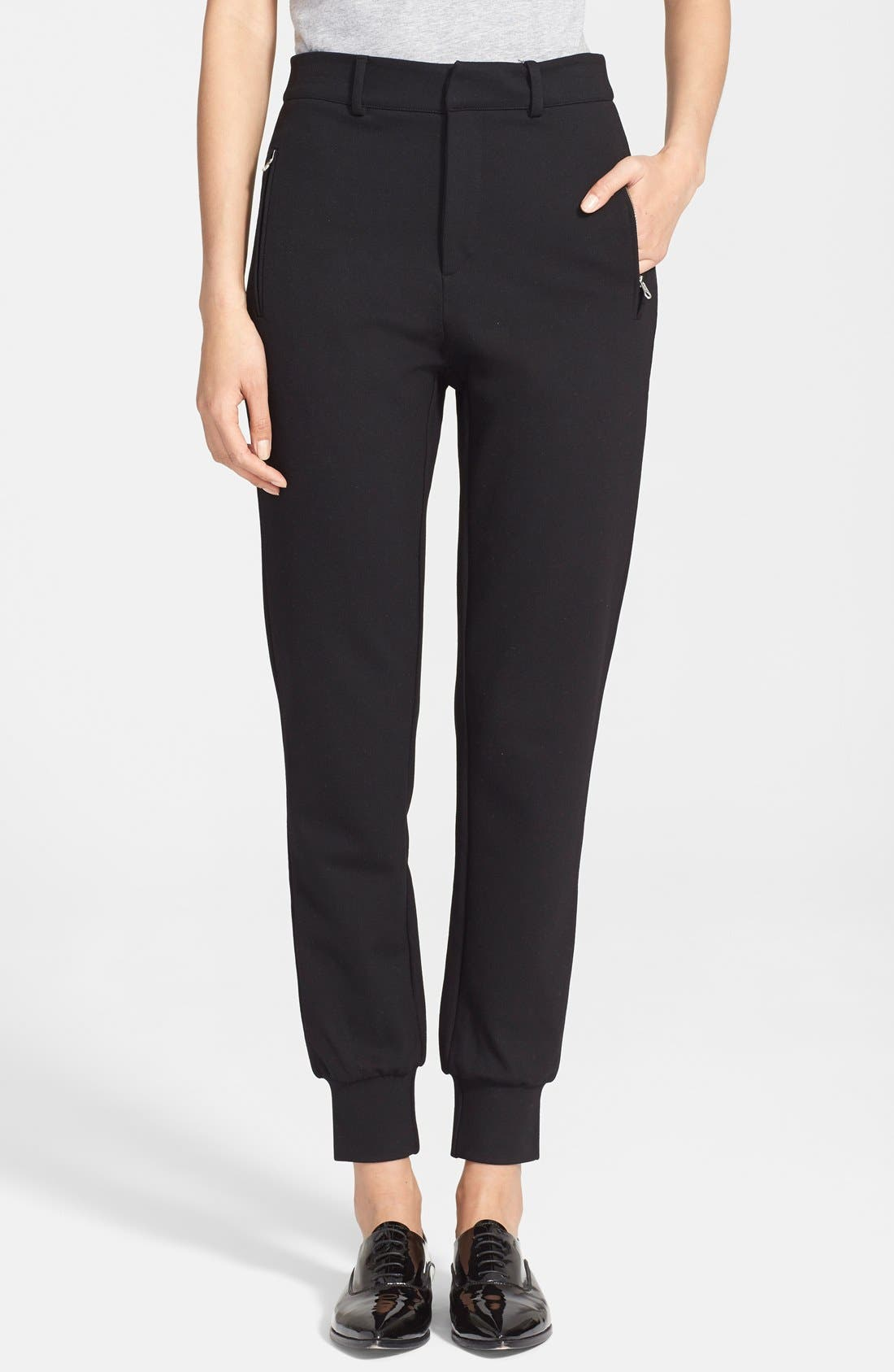 MCQ ALEXANDER MCQUEEN,                             McQ by Alexander McQueen Tailored Sweatpants,                             Main thumbnail 1, color,                             001