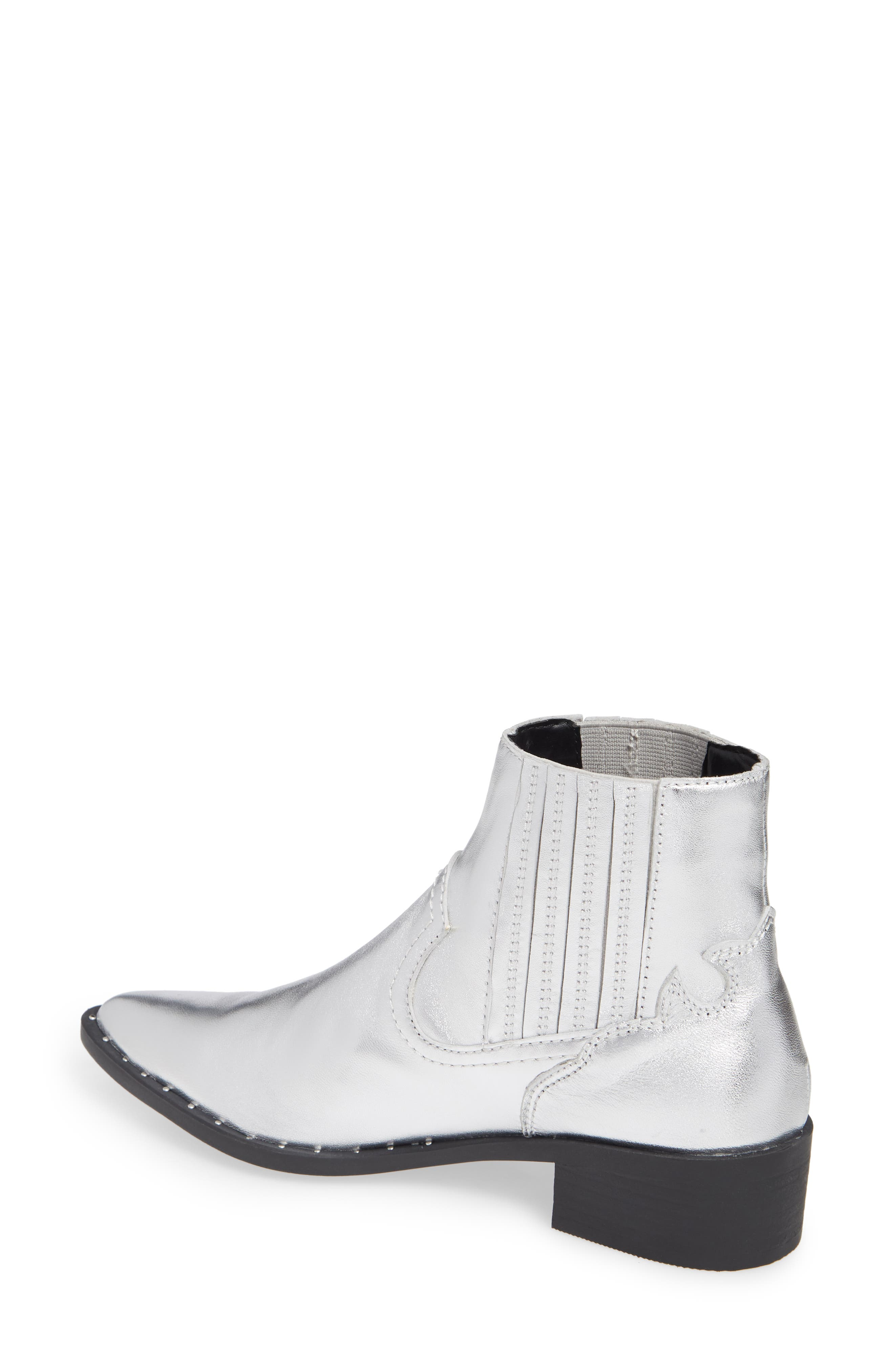 Juke Bootie,                             Alternate thumbnail 2, color,                             SILVER LEATHER