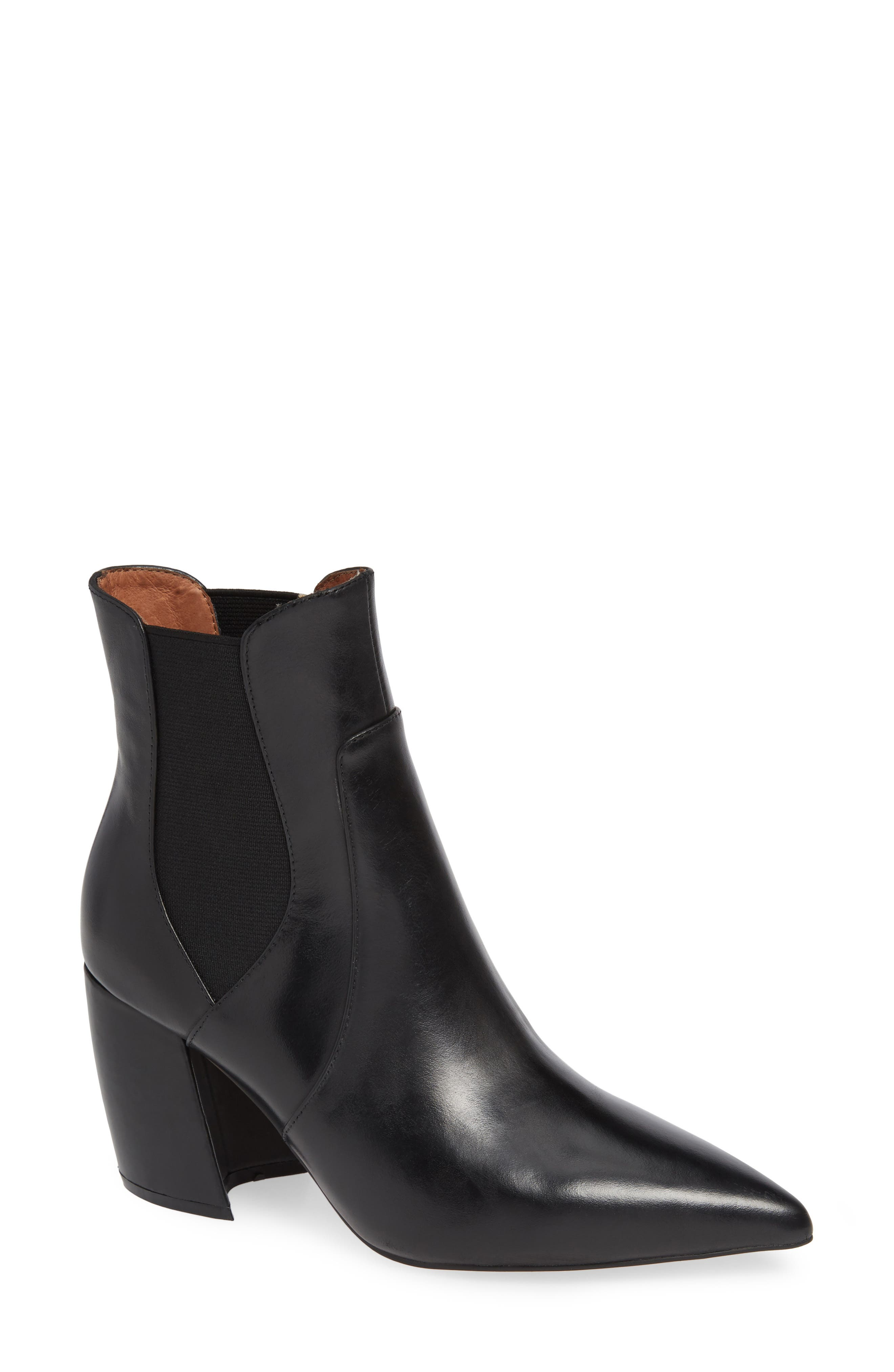 Akilina Bootie,                             Main thumbnail 1, color,                             BLACK LEATHER