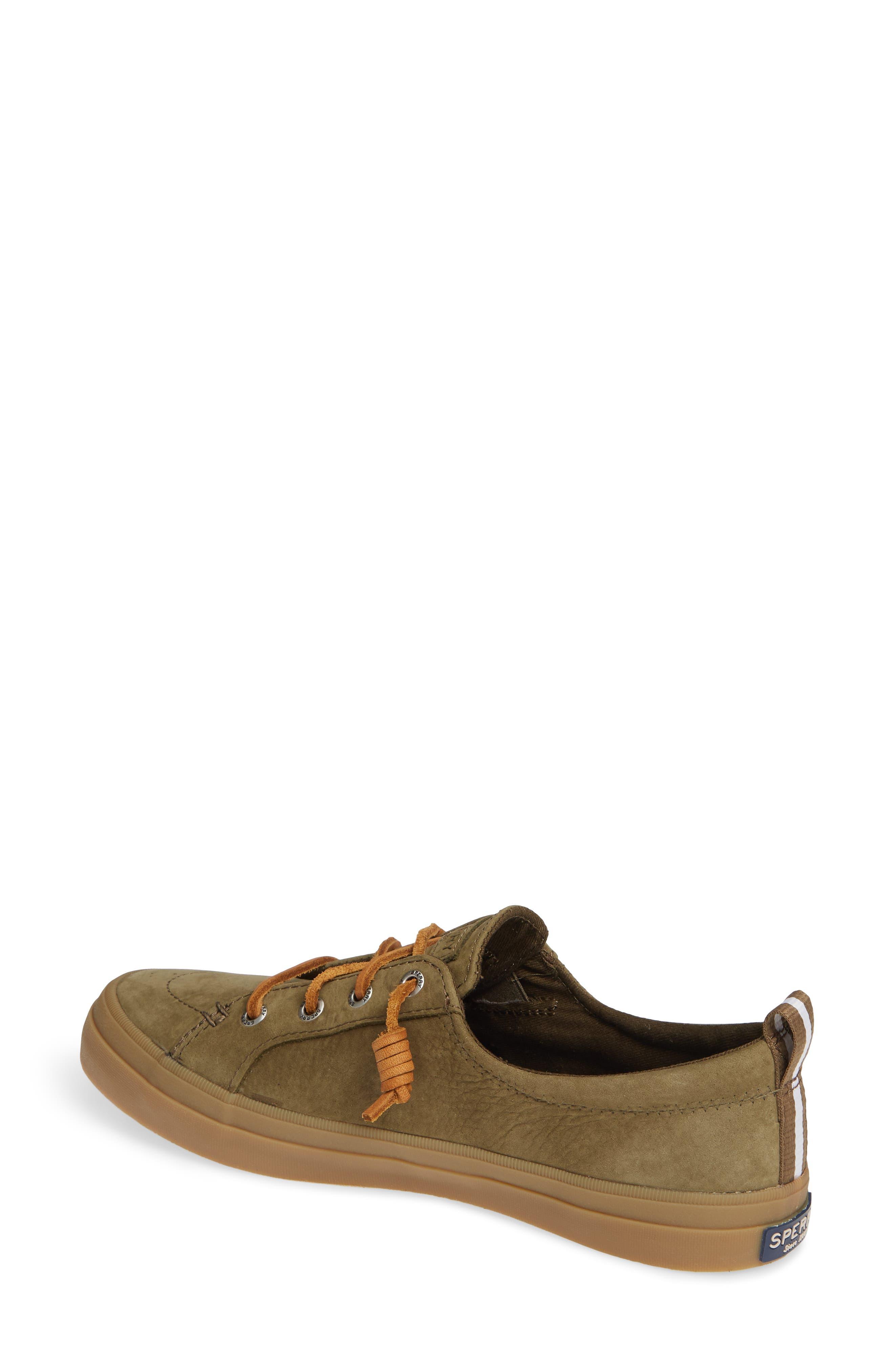 Crest Vibe Sneaker,                             Alternate thumbnail 2, color,                             OLIVE LEATHER