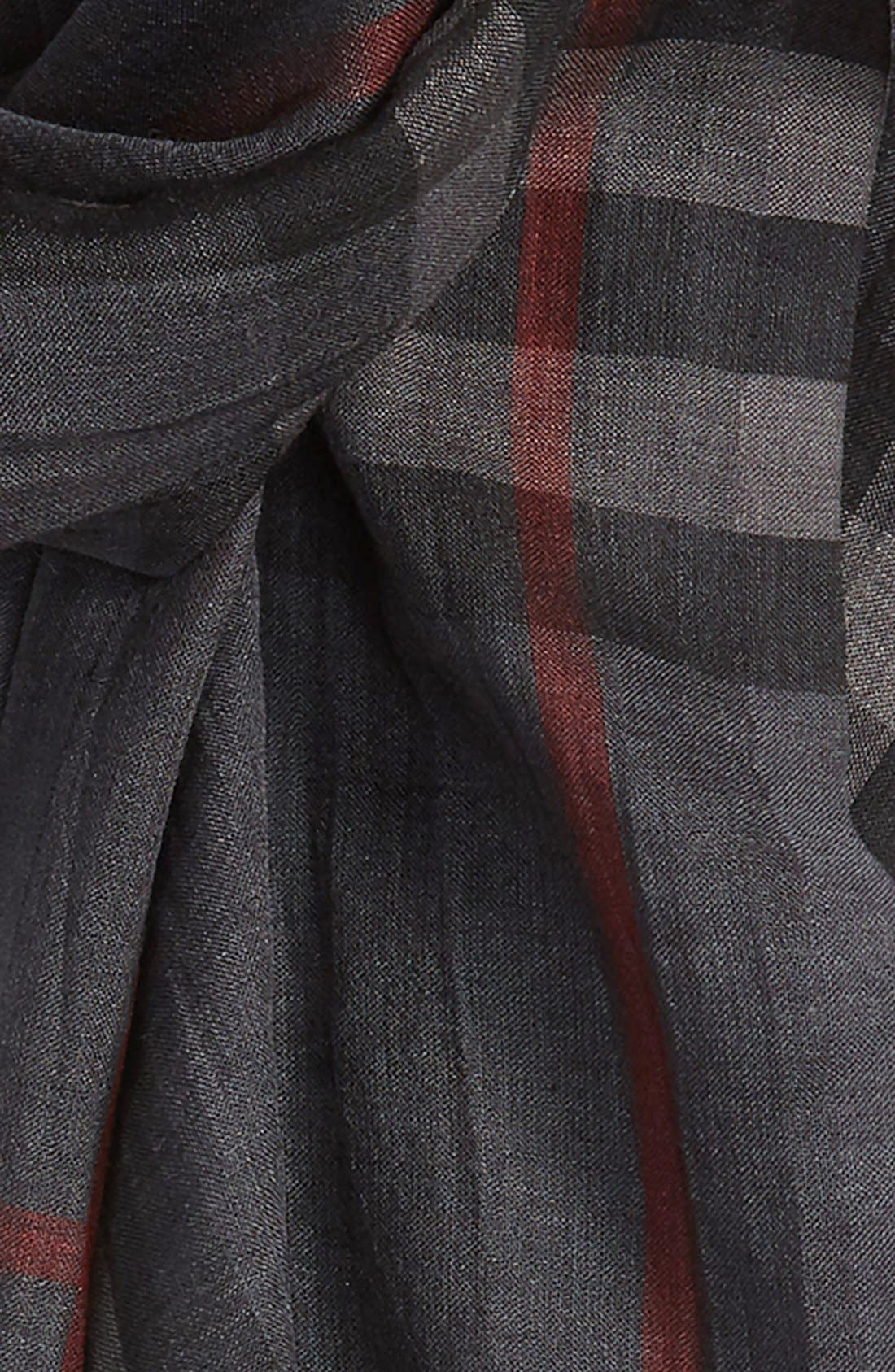 Giant Check Print Wool & Silk Scarf,                             Alternate thumbnail 157, color,