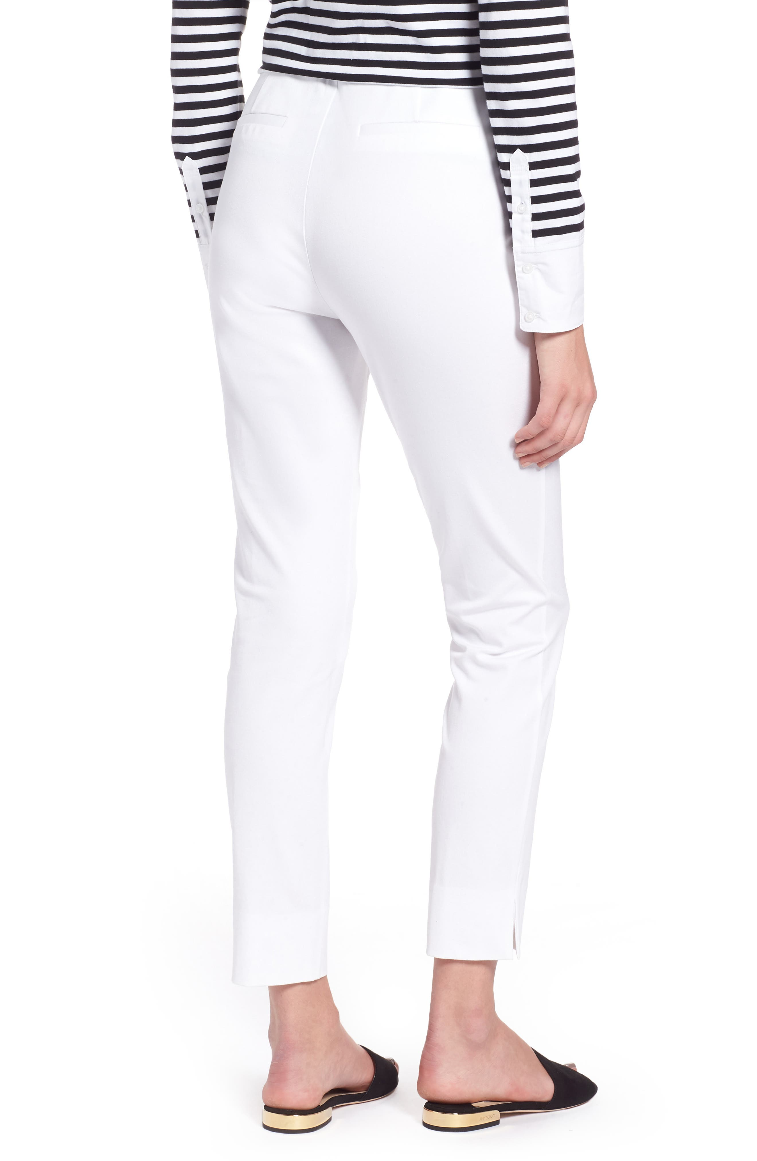 Skinny Stretch Pants,                             Alternate thumbnail 2, color,                             WHITE