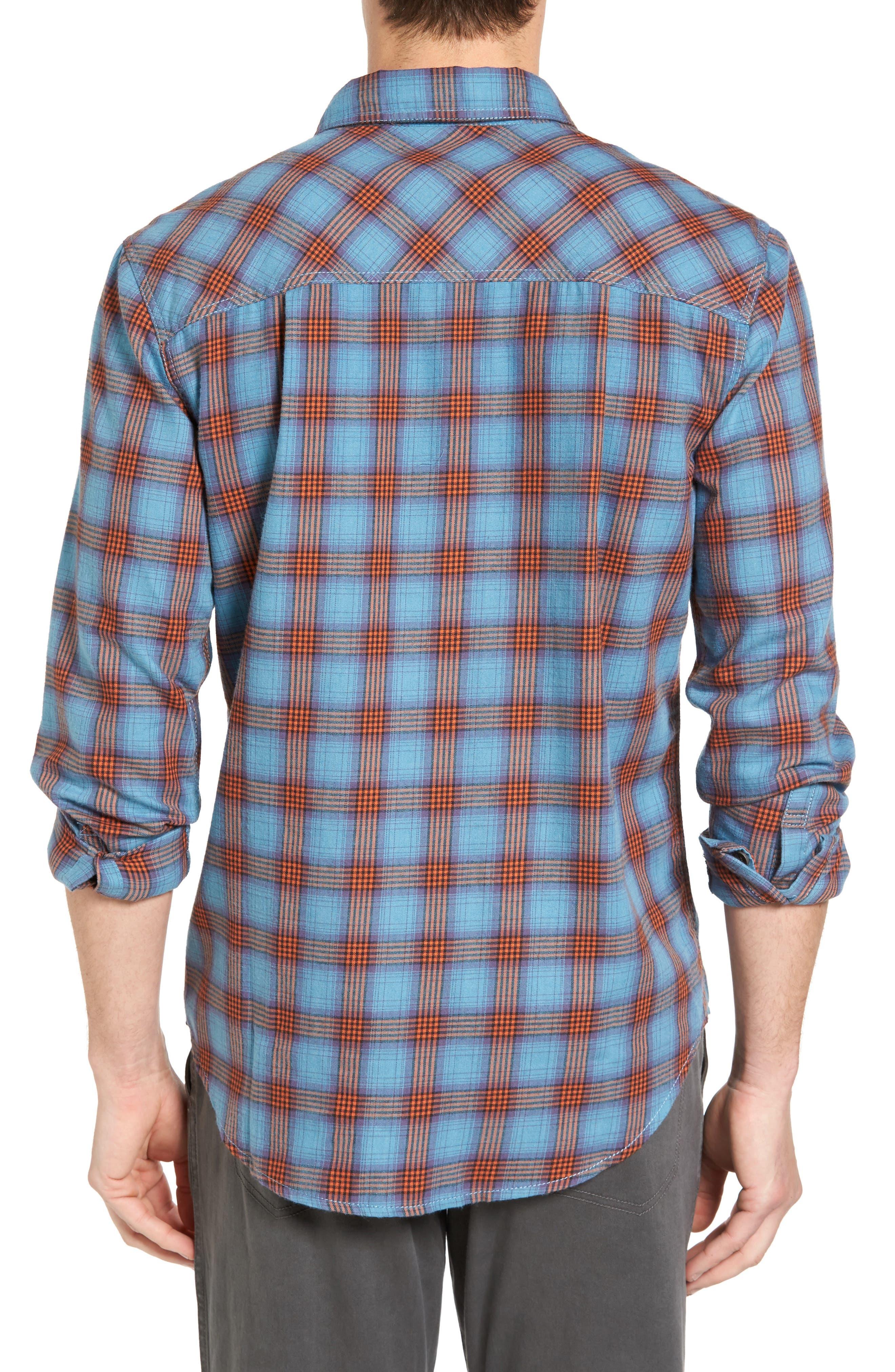 Burner Regular Fit Plaid Flannel Shirt,                             Alternate thumbnail 3, color,                             401