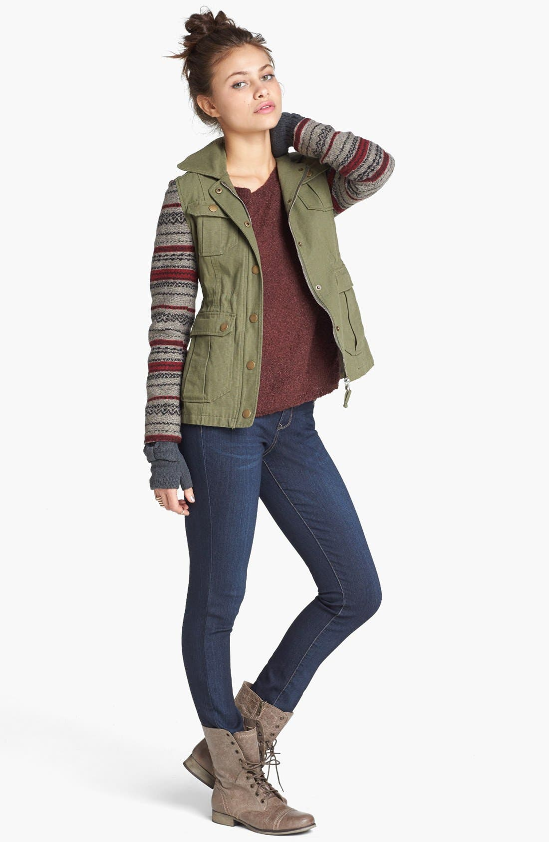 'Grunge' Textured Sweater,                             Alternate thumbnail 23, color,