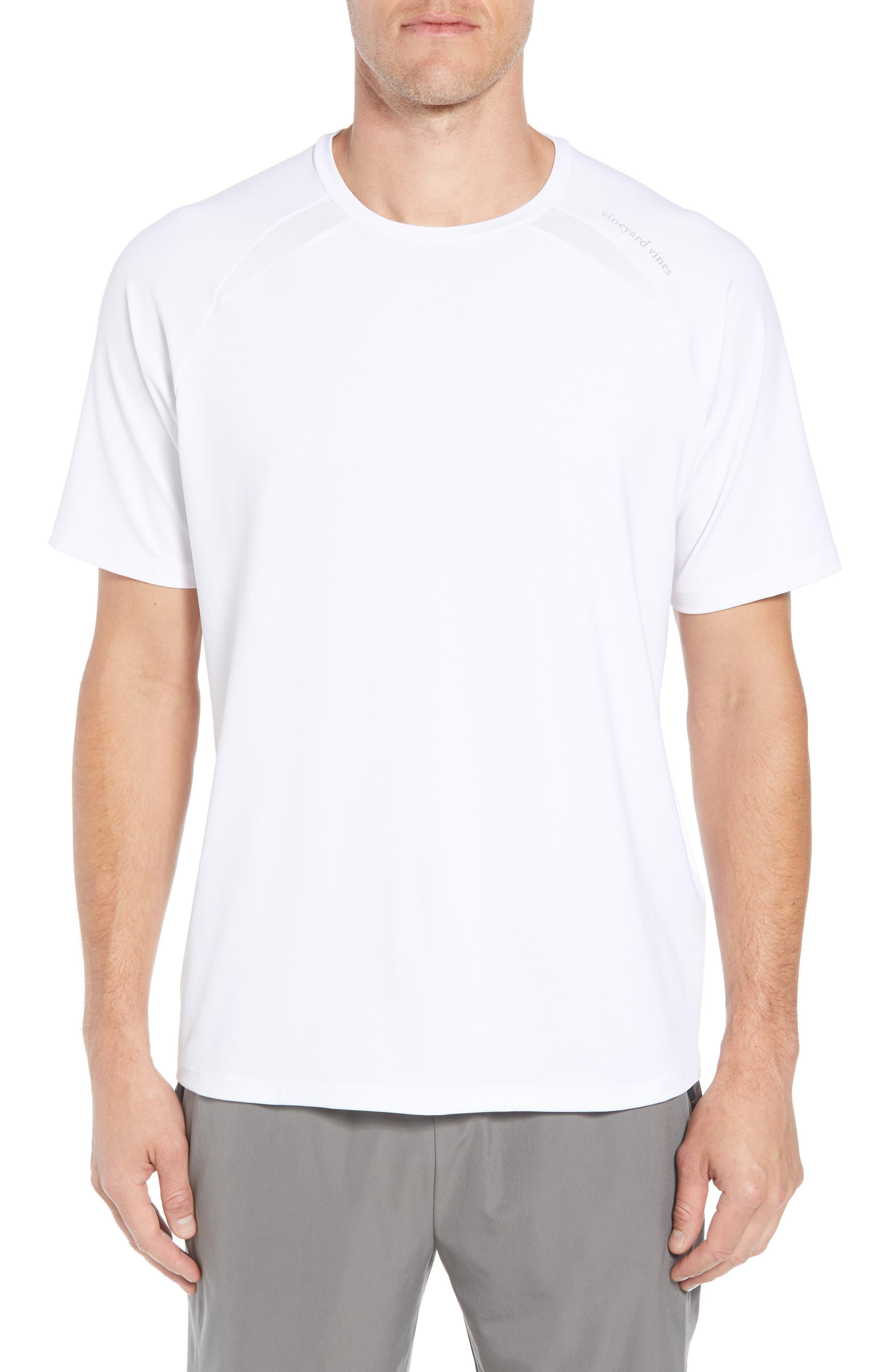 Mesh Inset T-Shirt,                         Main,                         color, WHITE CAP