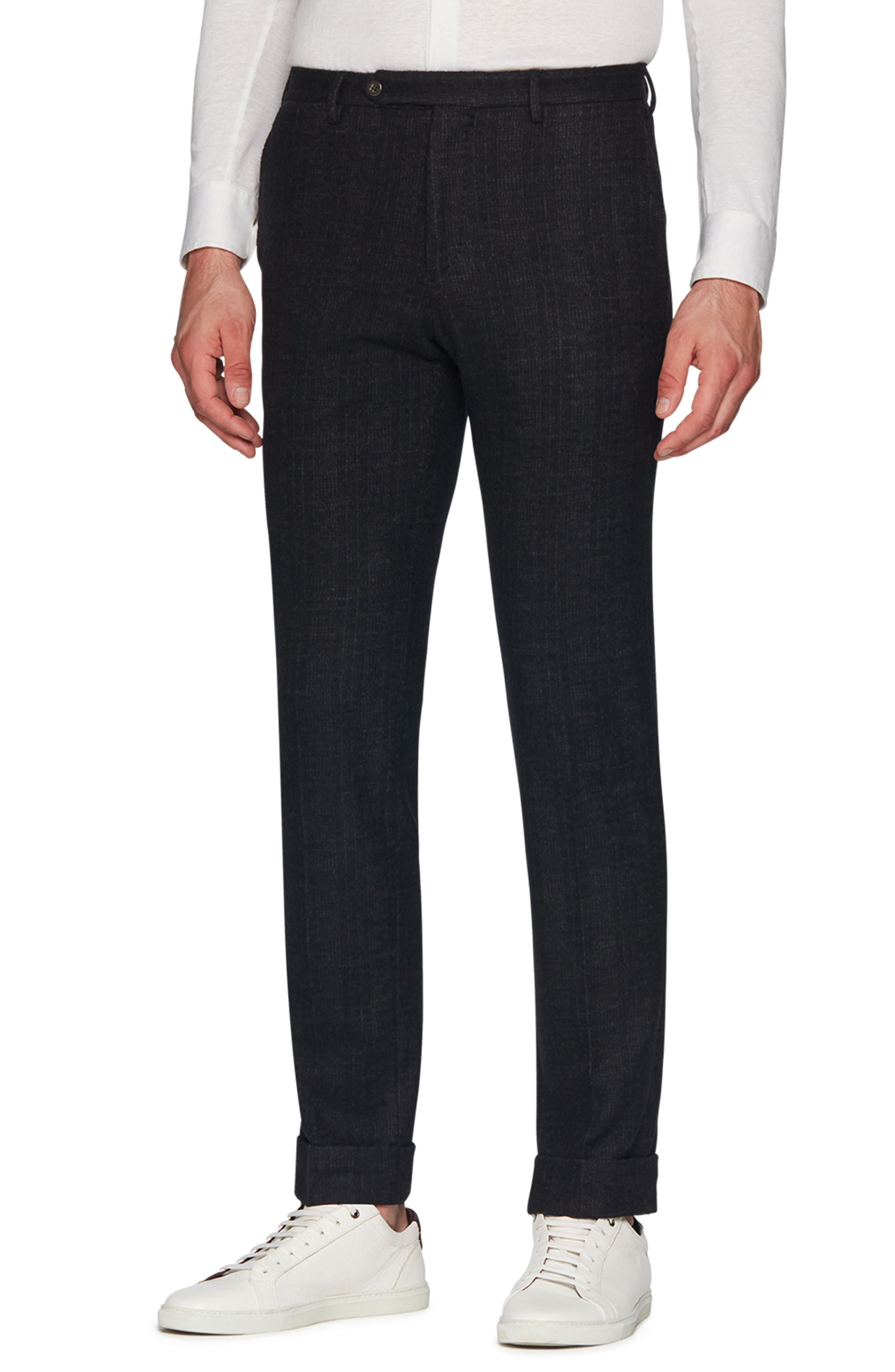 Josh Wool Blend Jersey Trousers,                             Main thumbnail 1, color,                             CHARCOAL