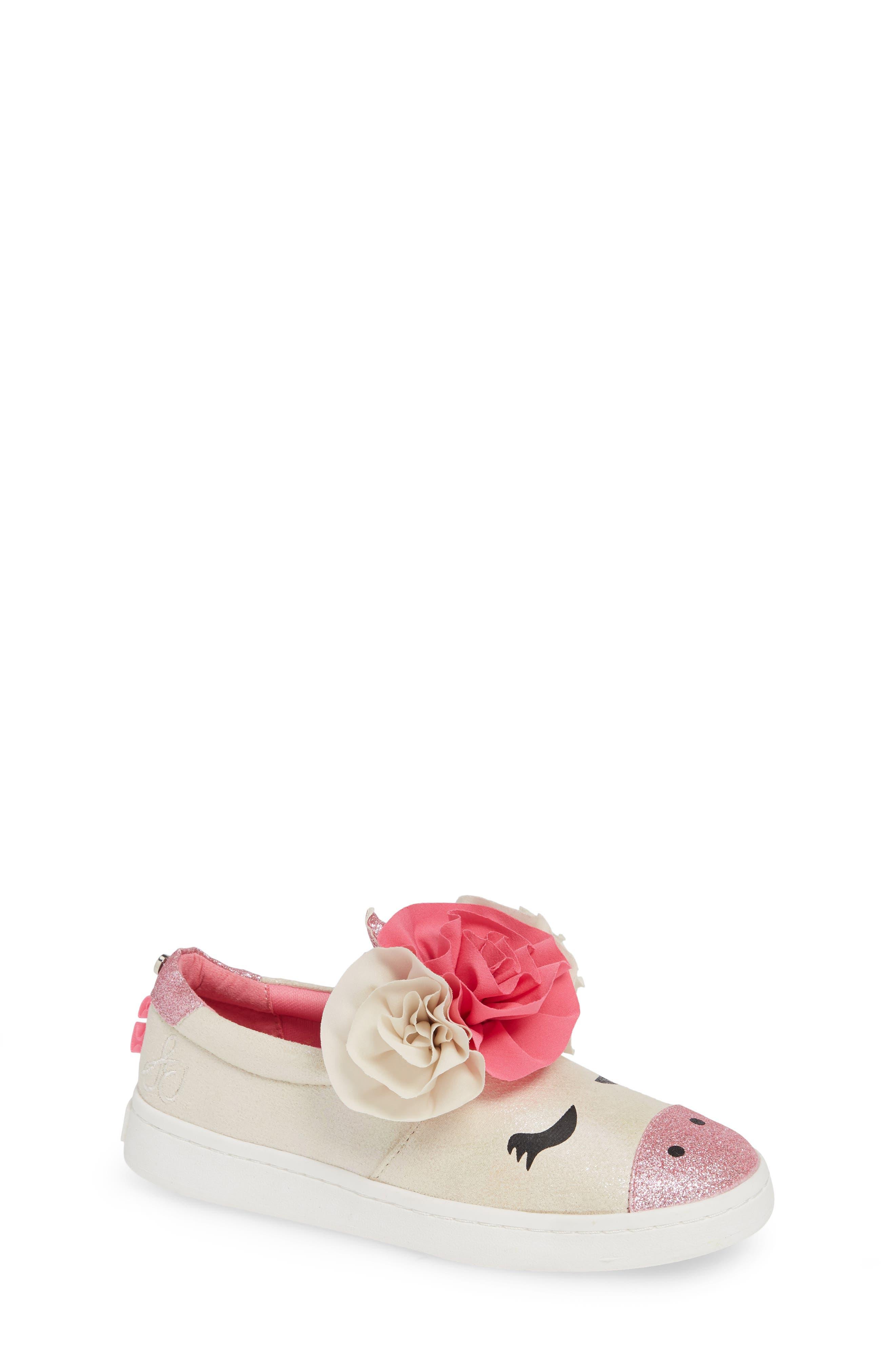 Blane Unicorn Slip-On Sneaker,                             Main thumbnail 1, color,                             WHITE SHIMMER