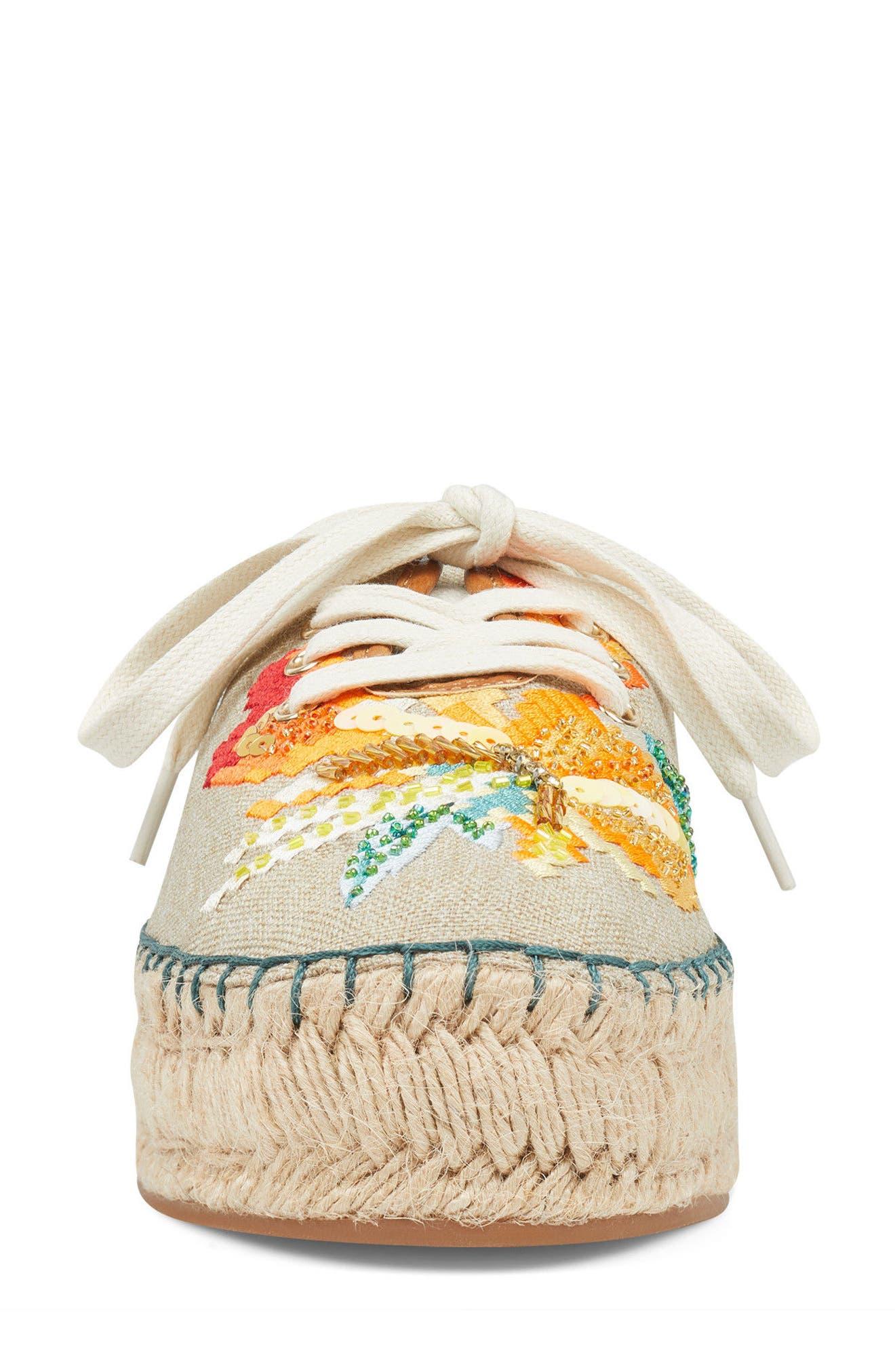 Guinup Embellished Espadrille Sneaker,                             Alternate thumbnail 4, color,                             250
