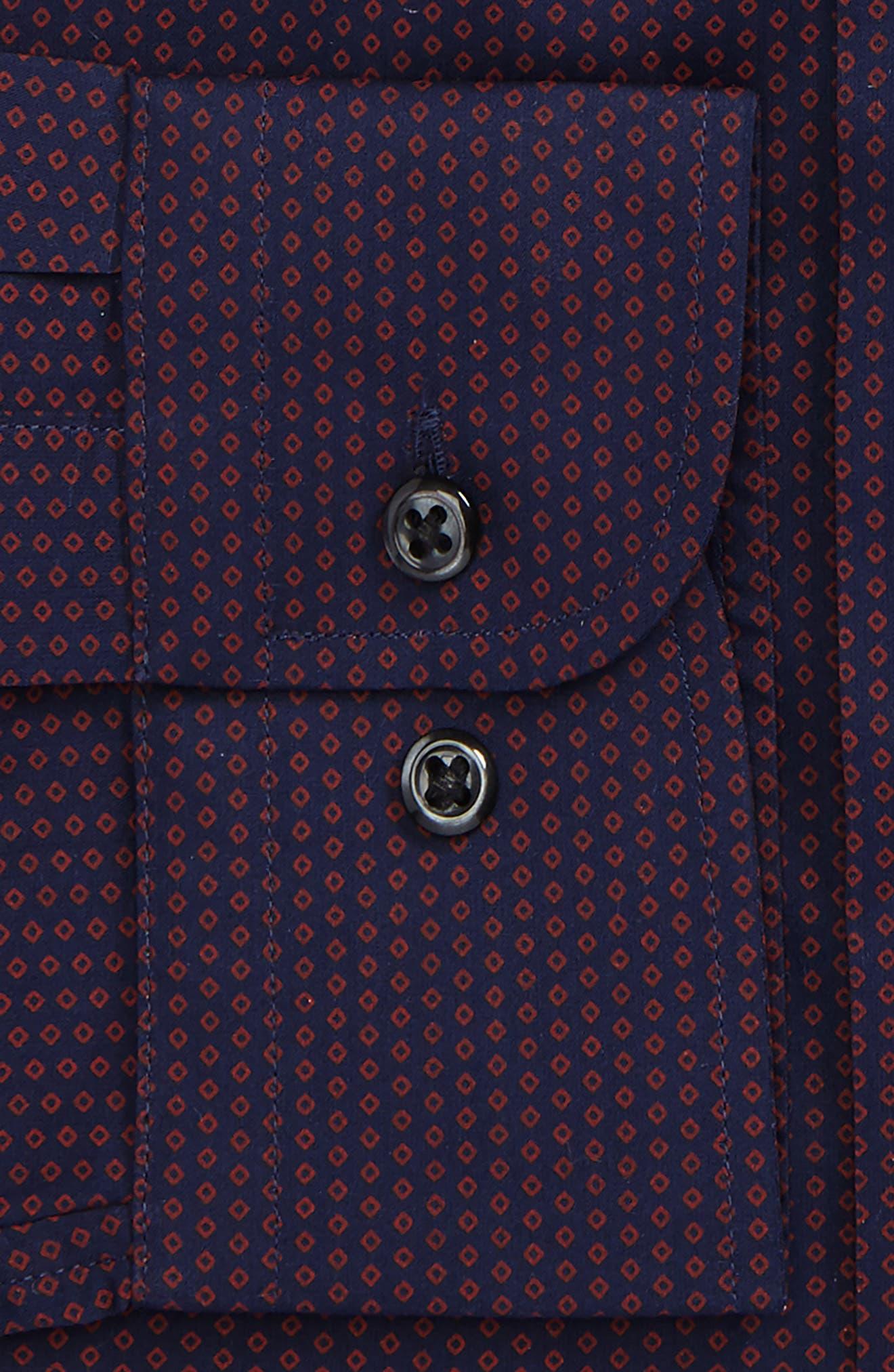 Trim Fit Print Dress Shirt,                             Alternate thumbnail 2, color,                             601