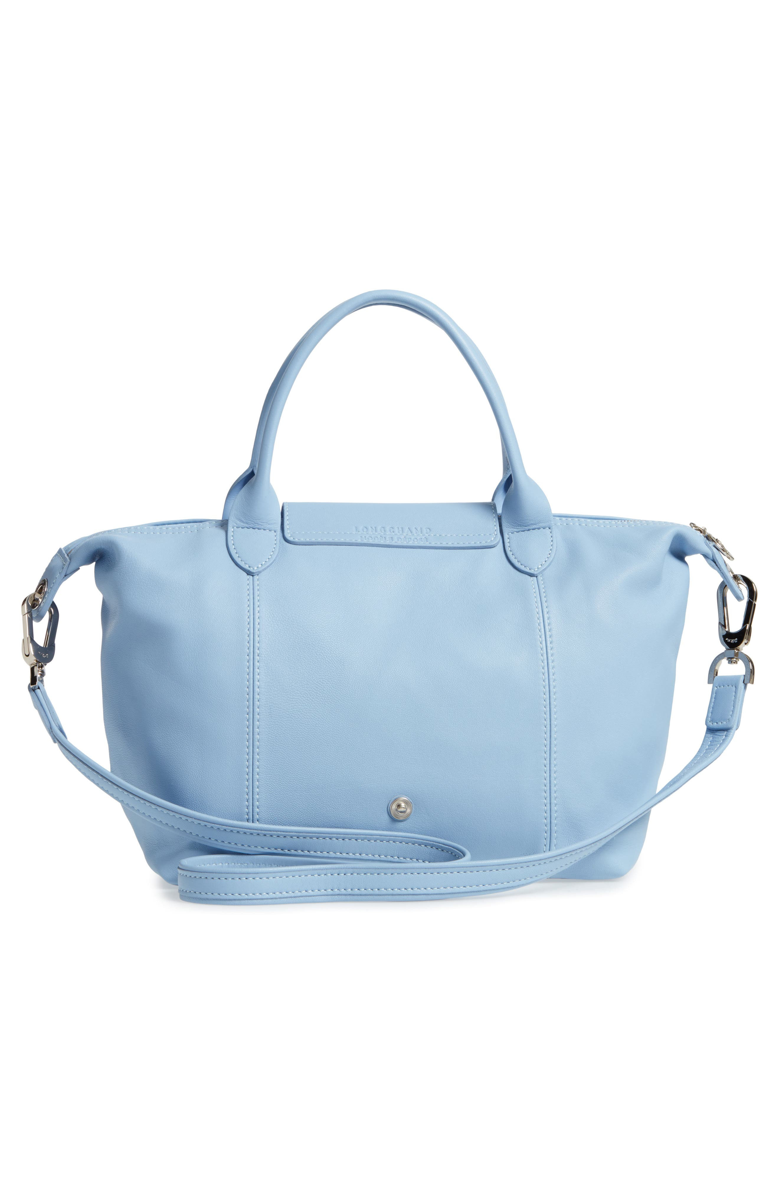 Small 'Le Pliage Cuir' Leather Top Handle Tote,                             Alternate thumbnail 45, color,