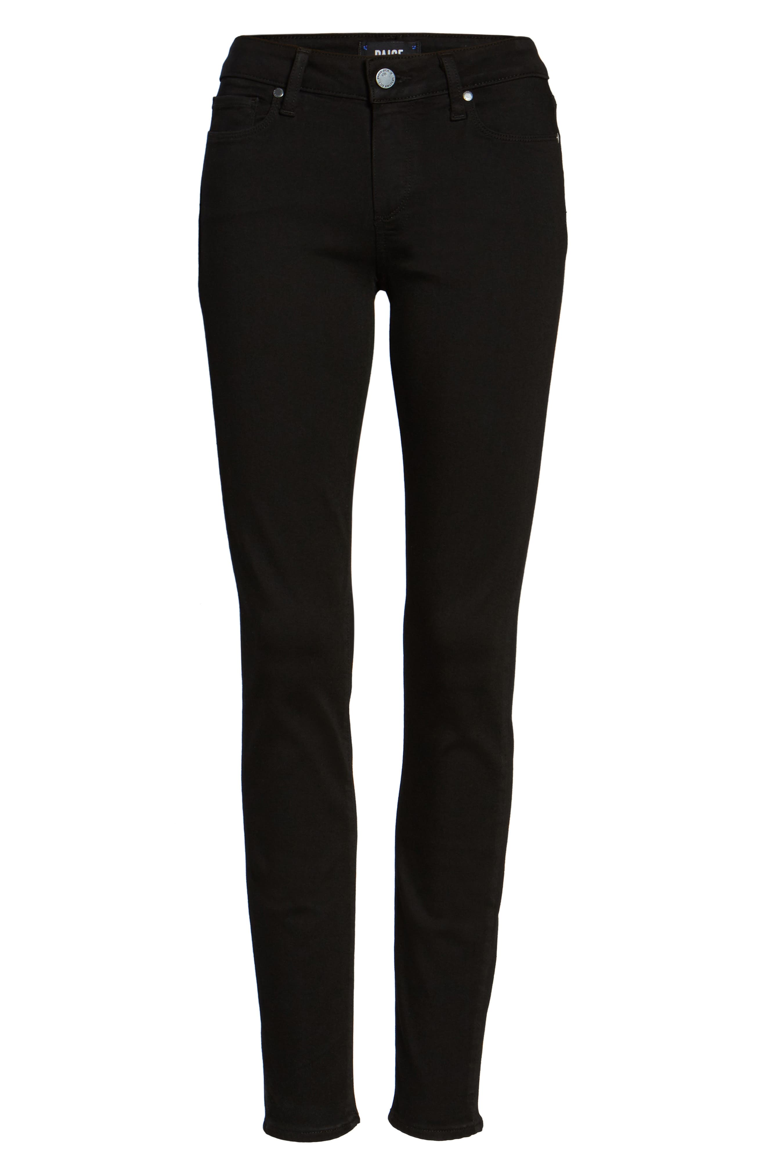 Transcend - Verdugo Ultra Skinny Jeans,                             Alternate thumbnail 4, color,                             BLACK SHADOW
