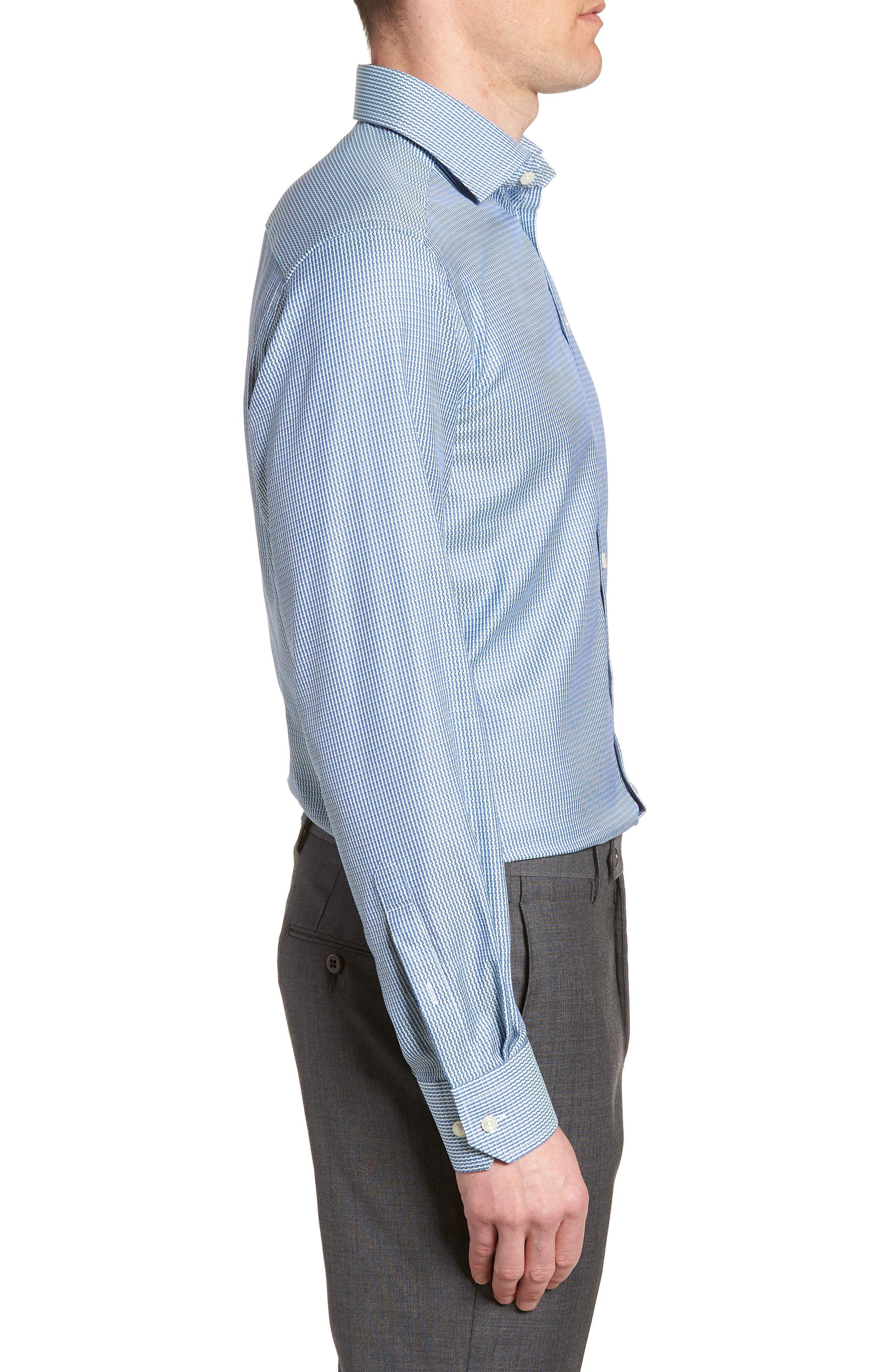 Contemporary Fit Pattern Jacquard Dress Shirt,                             Alternate thumbnail 4, color,                             400