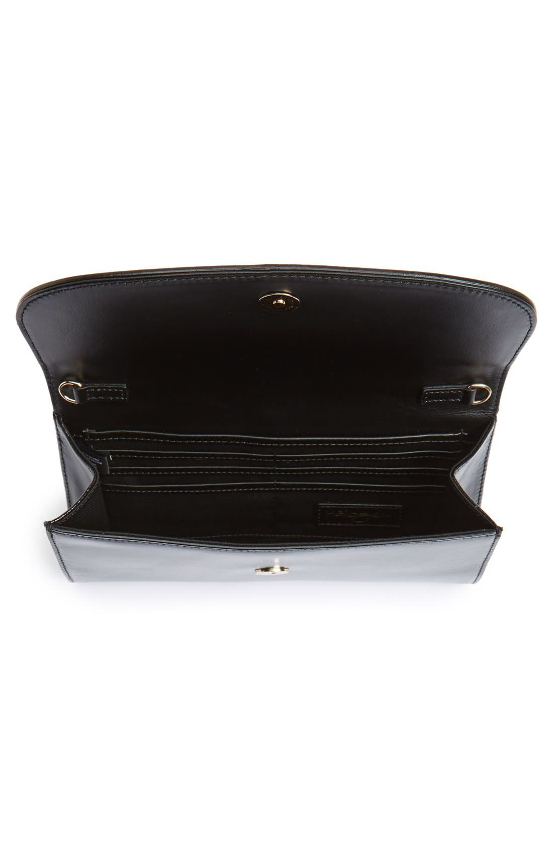 Leather Clutch,                             Alternate thumbnail 41, color,