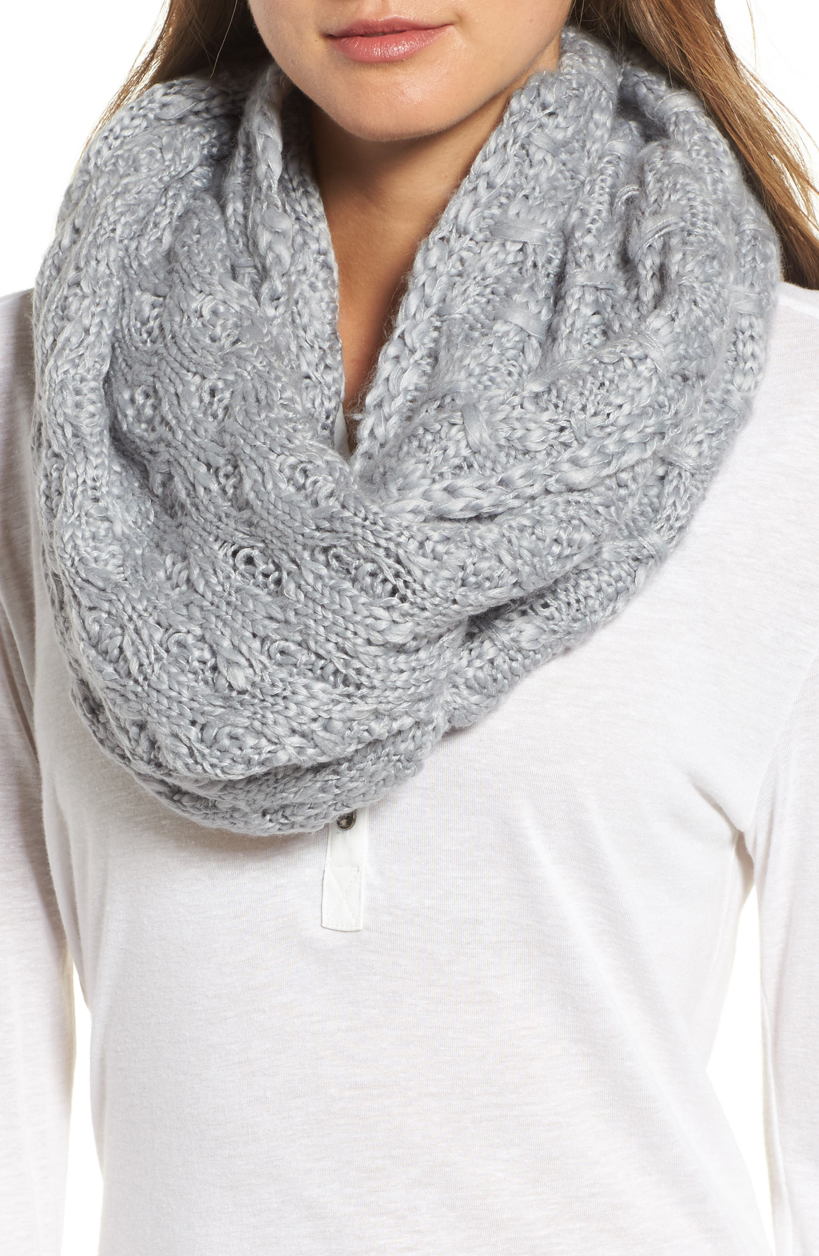 Solid Chunky Knit Infinity Scarf,                             Main thumbnail 2, color,