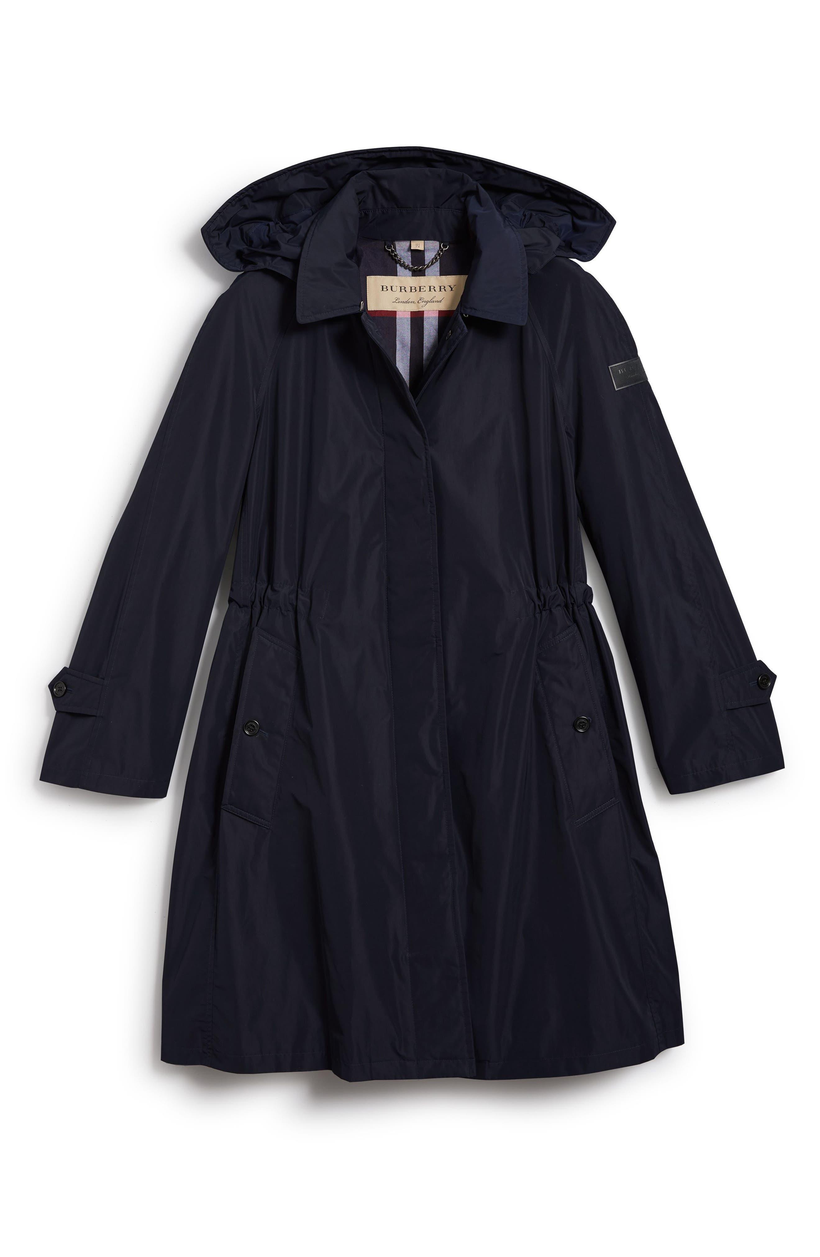 Tringford Waterproof Hooded Coat,                             Alternate thumbnail 5, color,                             NAVY
