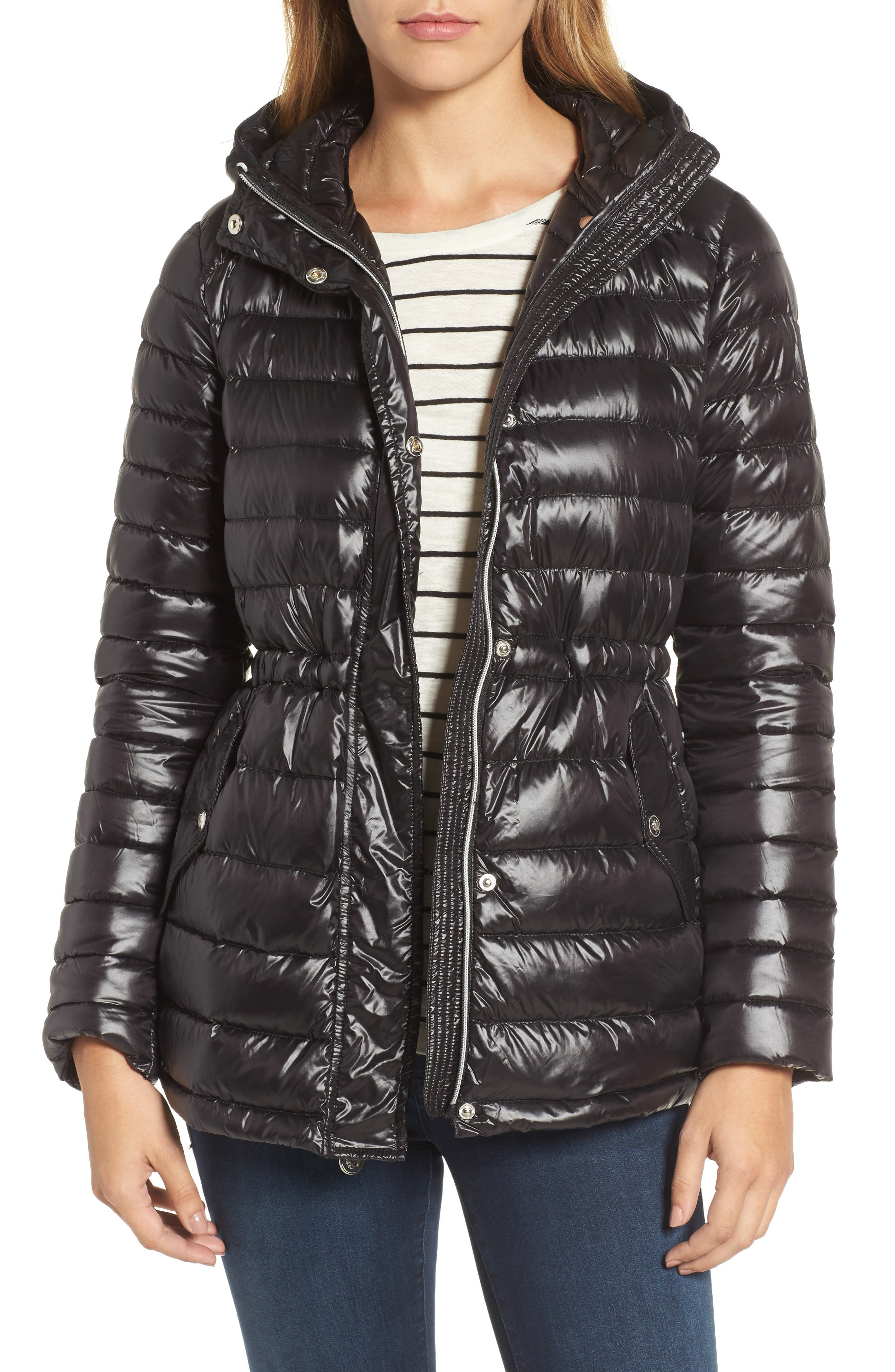 Hooded Down Jacket,                         Main,                         color, 001