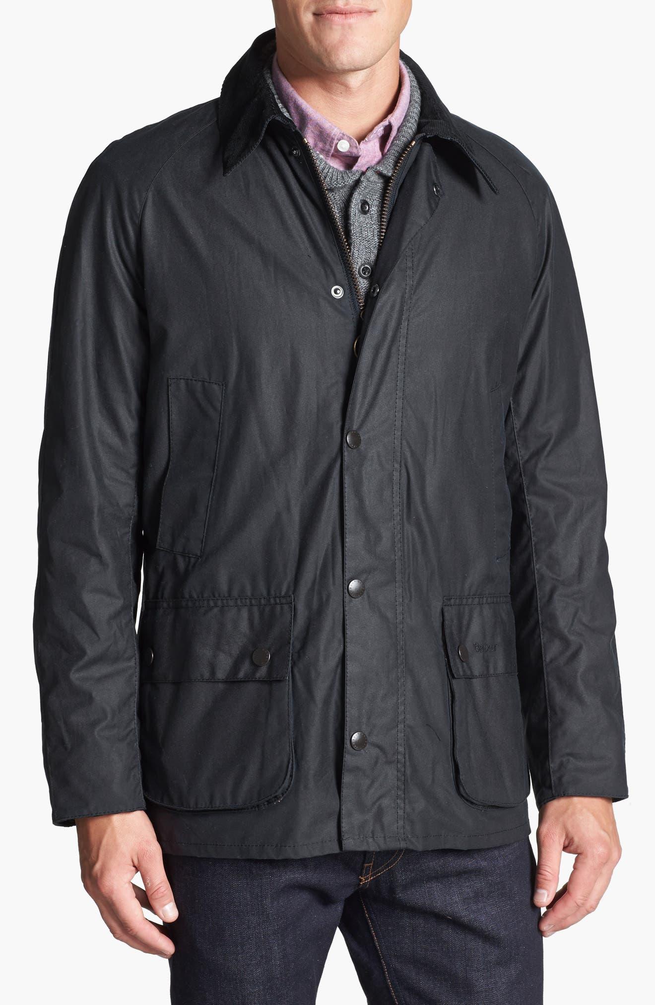 Ashby Wax Jacket,                             Alternate thumbnail 6, color,                             NAVY