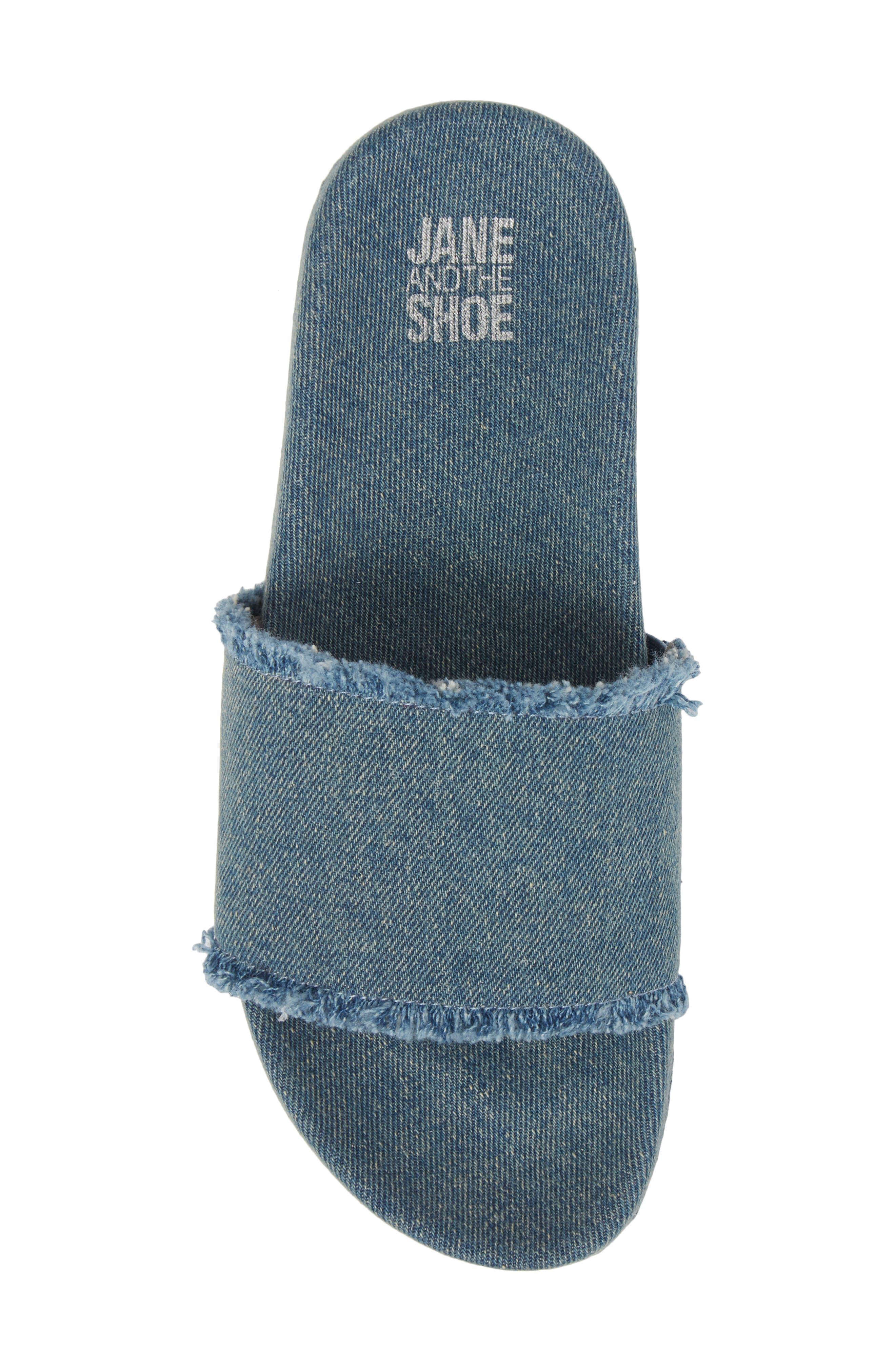 Kelsey Frayed Edge Slide Sandal,                             Alternate thumbnail 10, color,