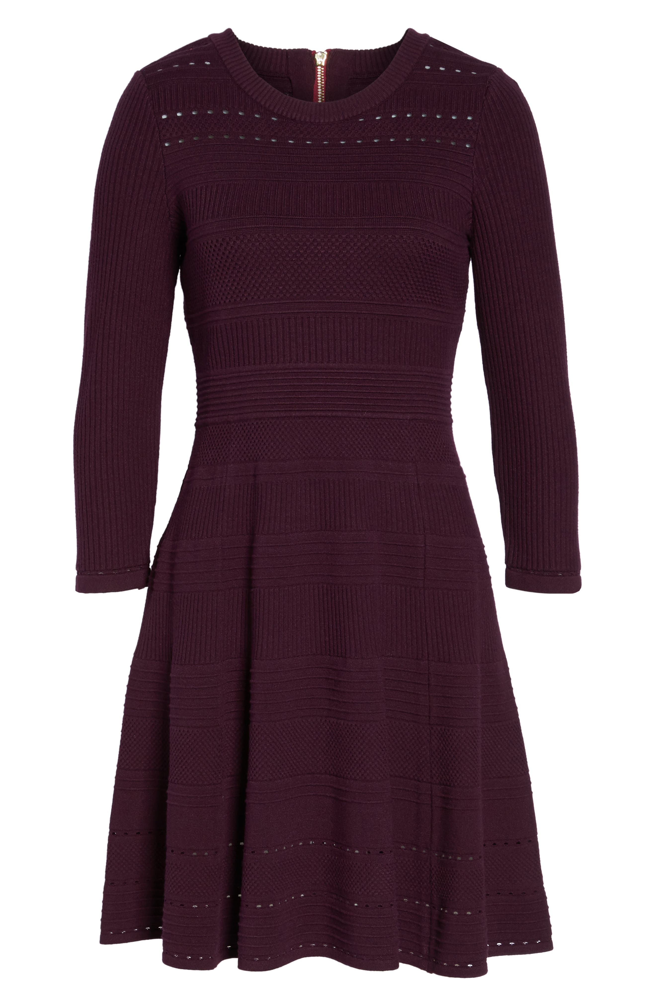 Fit & Flare Sweater Dress,                             Alternate thumbnail 24, color,