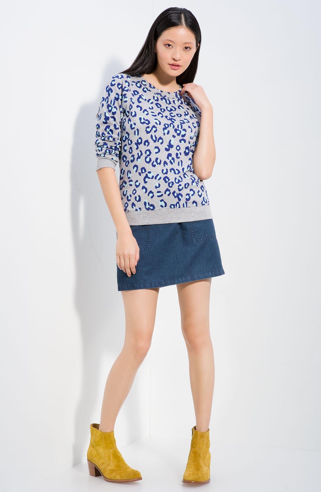 Leopard Print Sweatshirt, Main, color, 400
