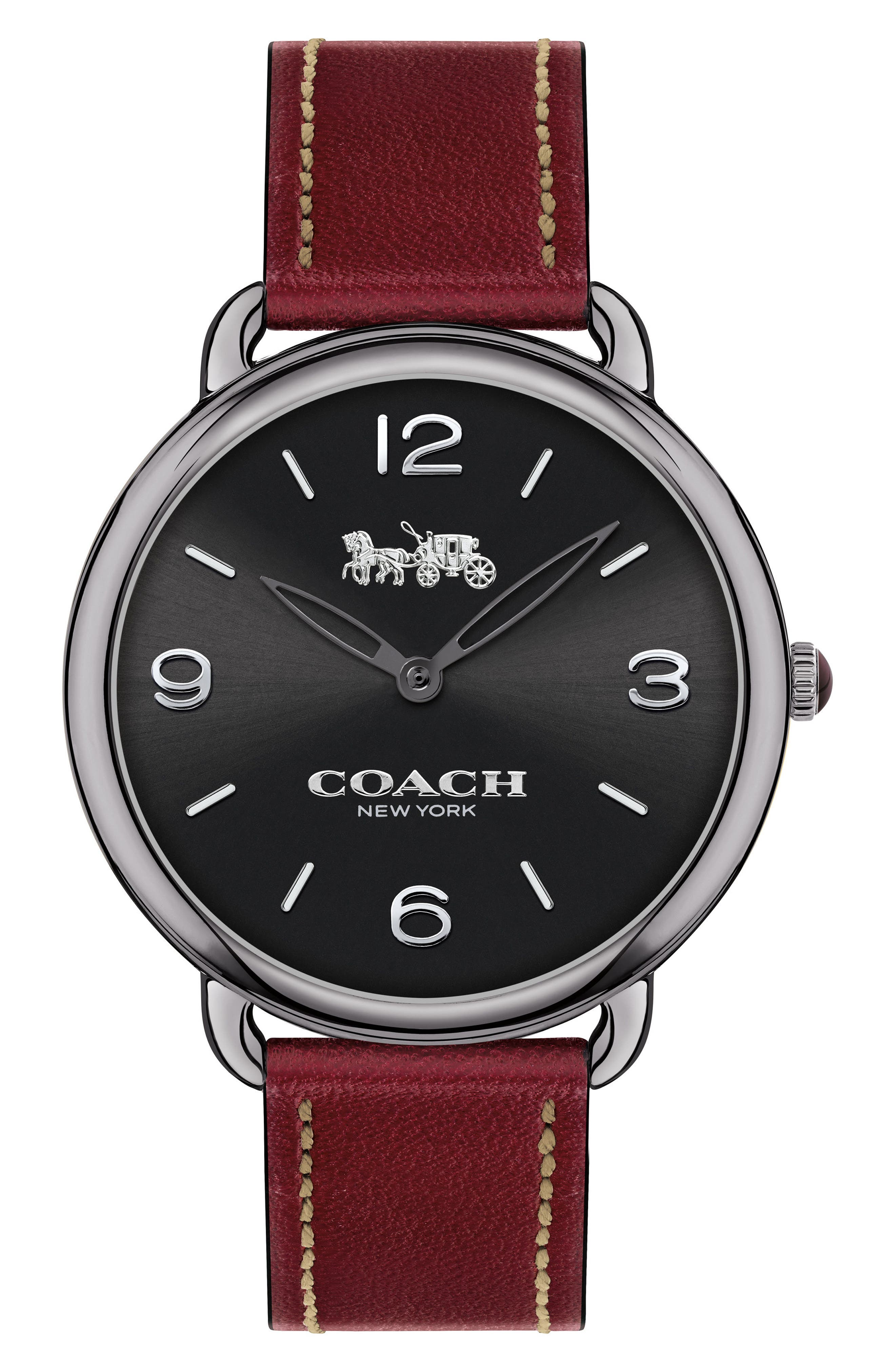 Delancey Slim Leather Strap Watch, 36mm,                             Main thumbnail 4, color,