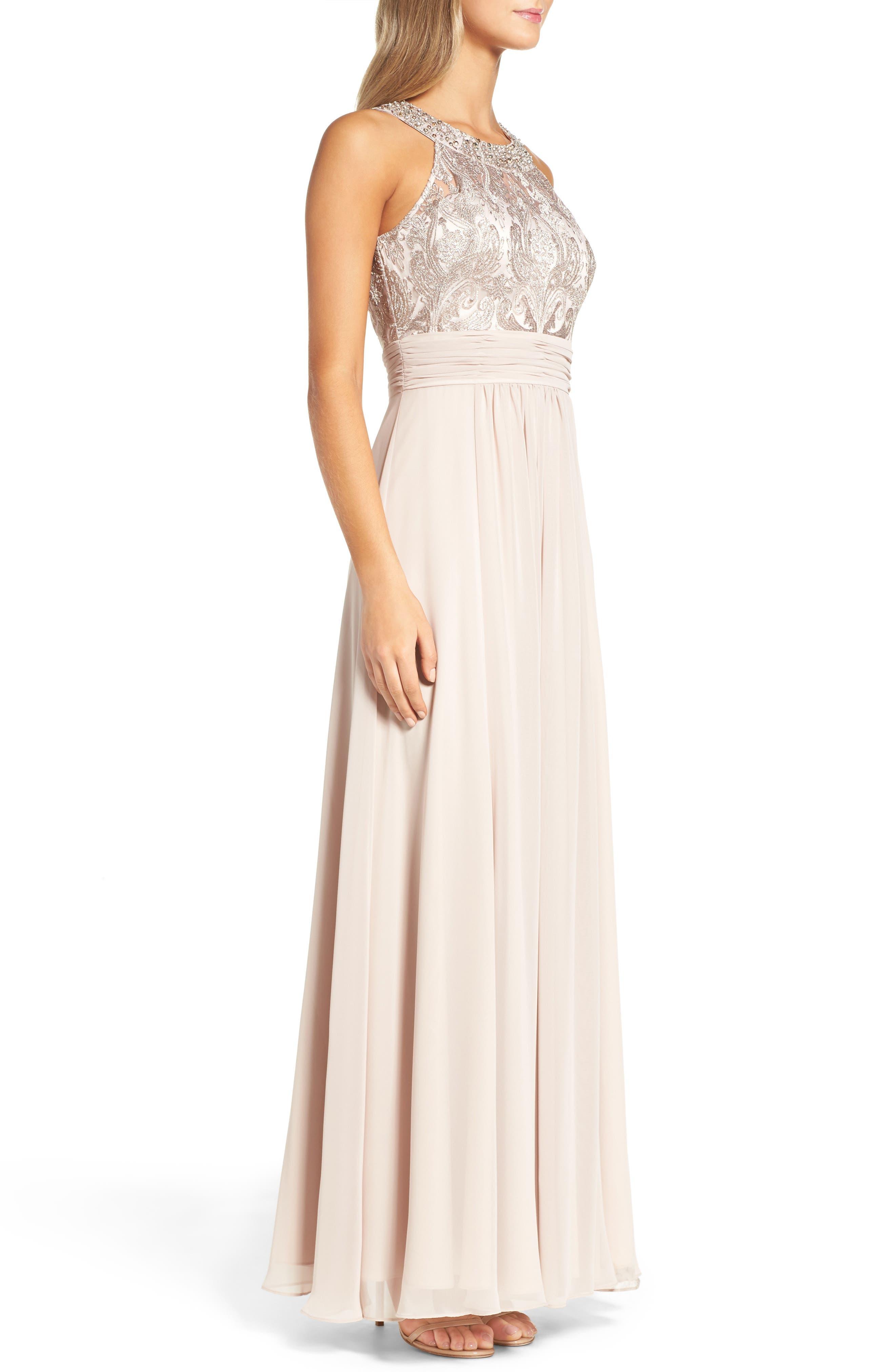 Lace Bodice Gown,                             Alternate thumbnail 11, color,