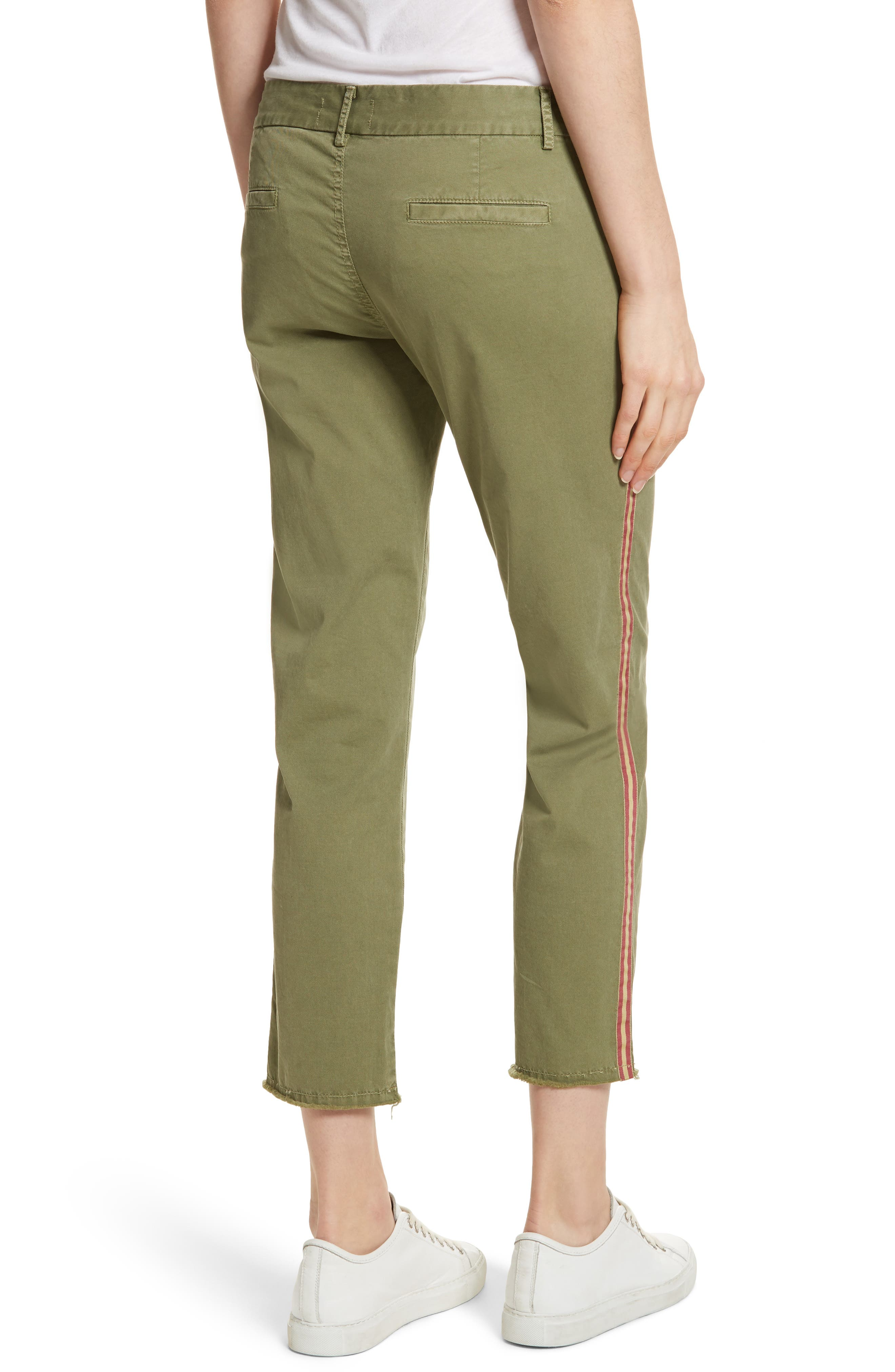 East Hampton Stretch Cotton Twill Crop Pants,                             Alternate thumbnail 2, color,                             ARMY GREEN