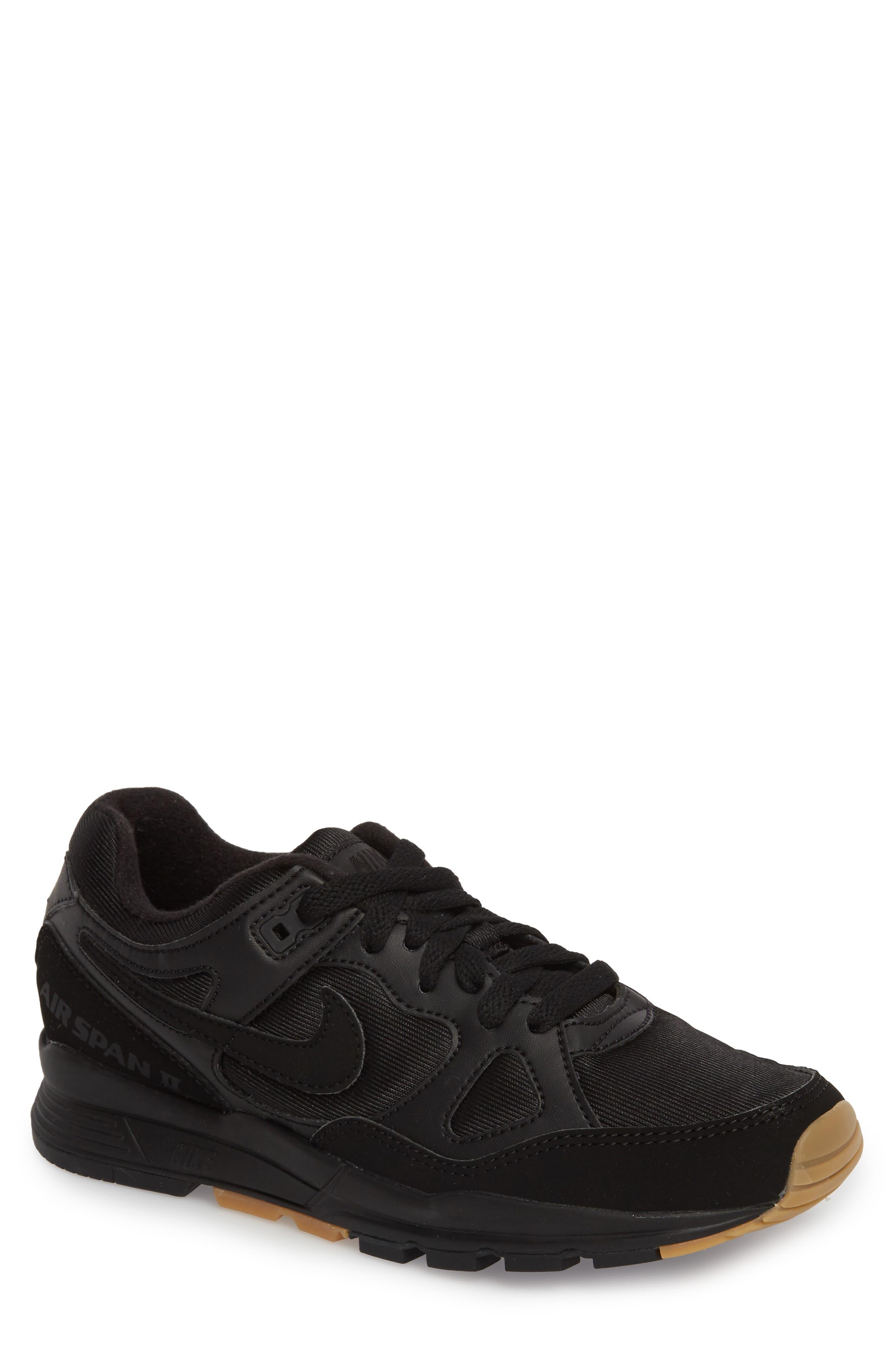 Air Span II Sneaker,                         Main,                         color, BLACK/ BLACK/ BLACK