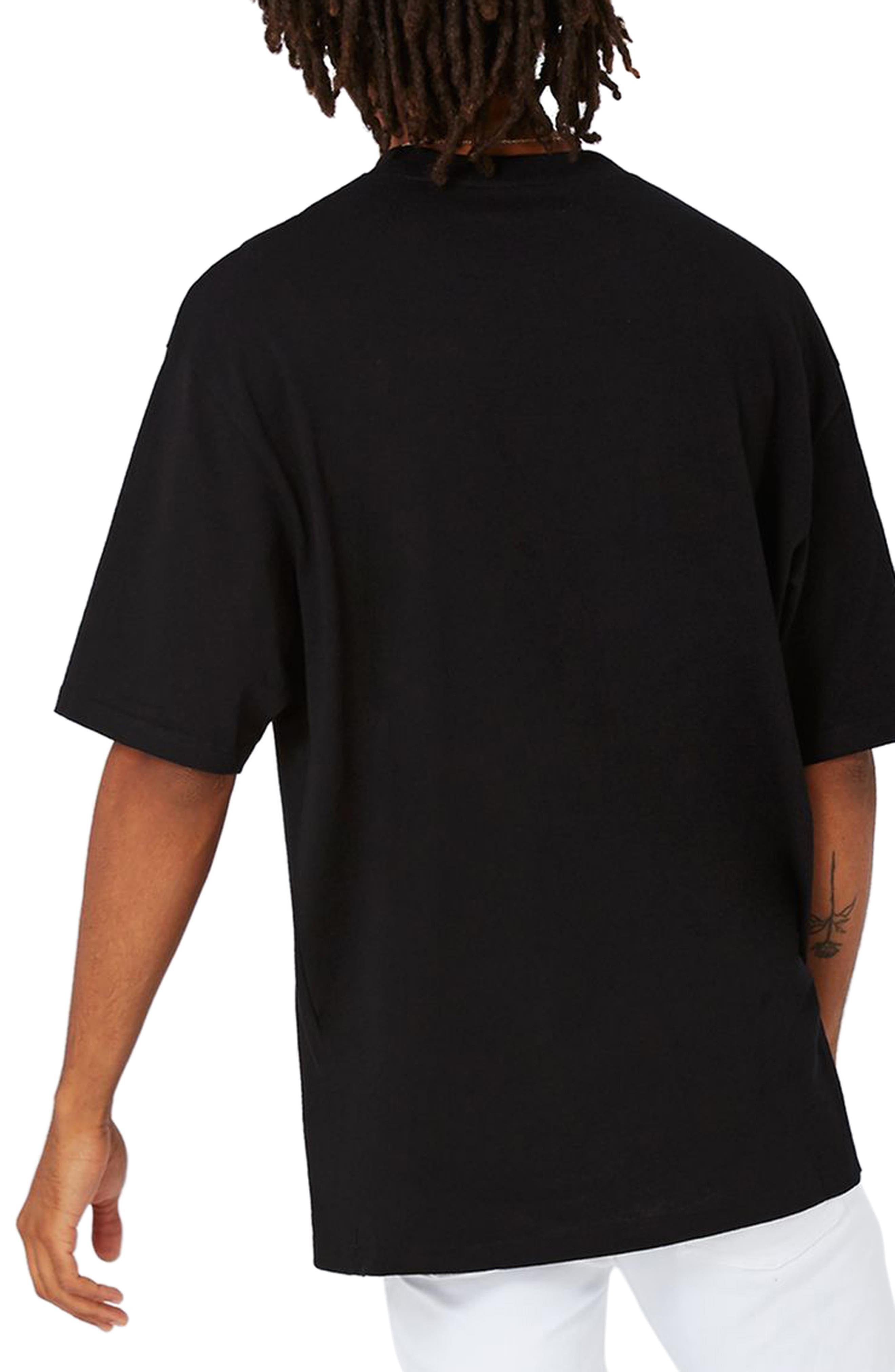 Oversize T-Shirt,                             Alternate thumbnail 2, color,                             001
