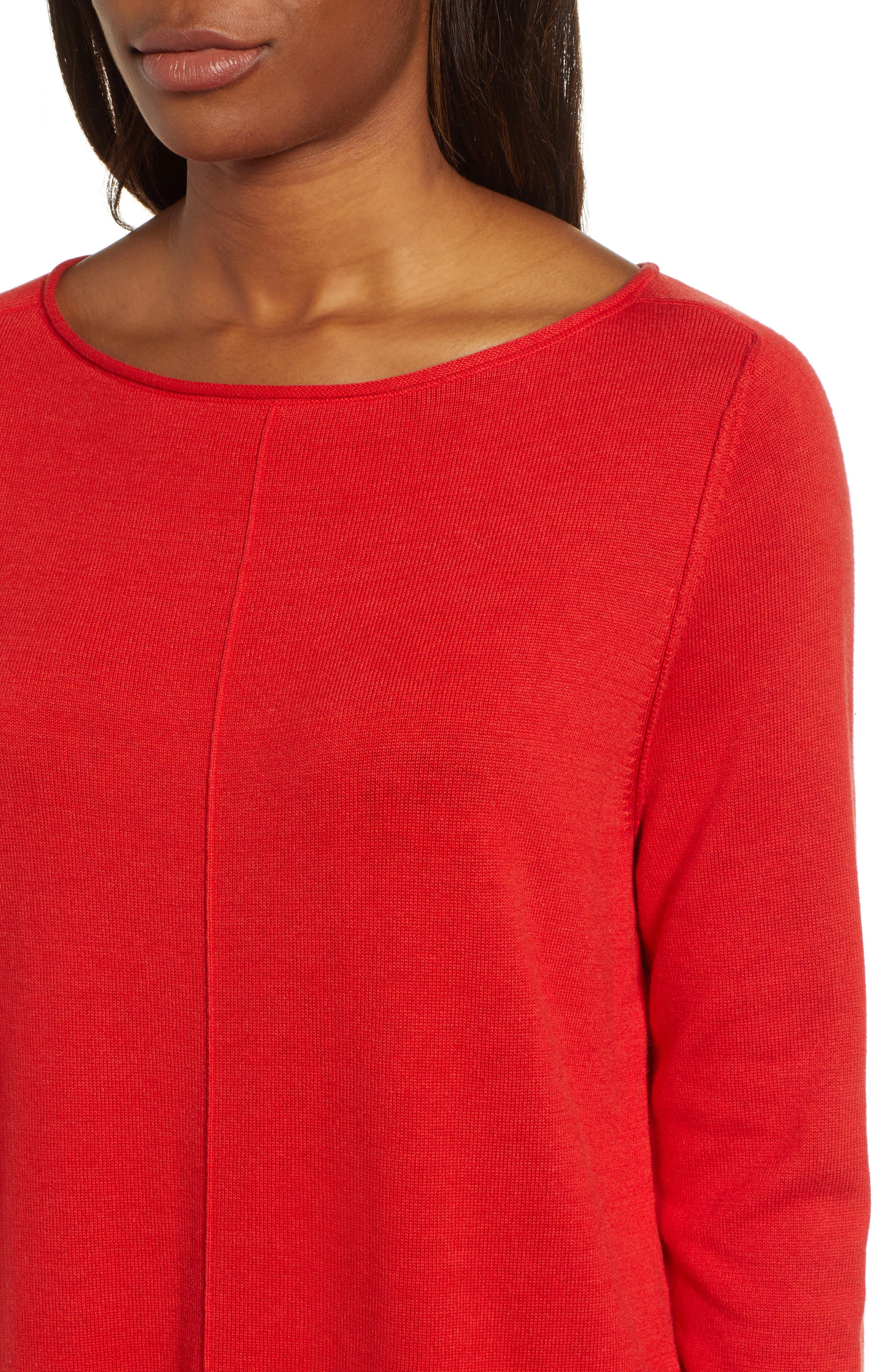 CASLON<SUP>®</SUP>,                             Seam Detail Shirttail Tunic,                             Alternate thumbnail 4, color,                             610