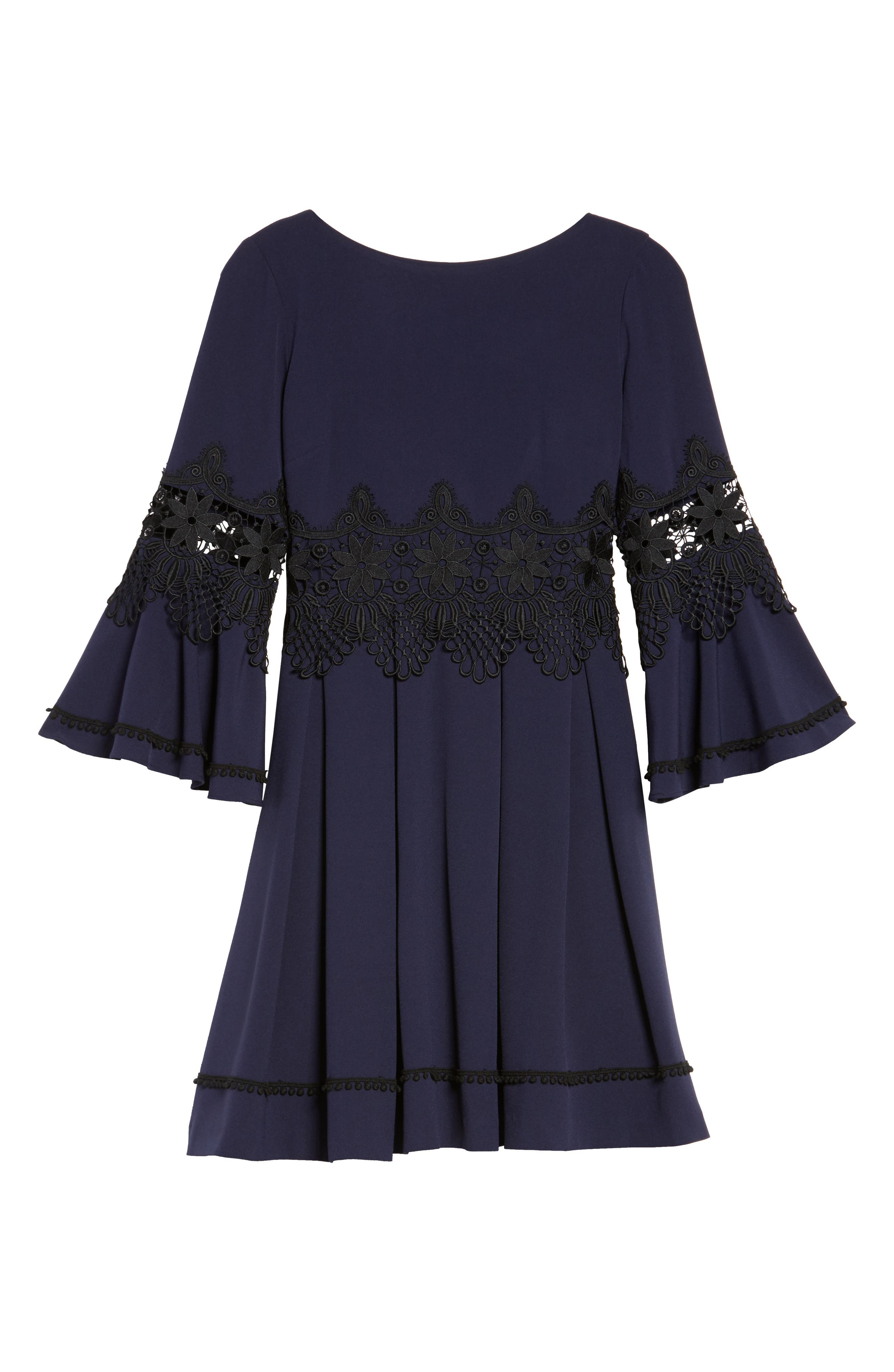 Lace Detail A-Line Dress,                             Alternate thumbnail 6, color,                             488