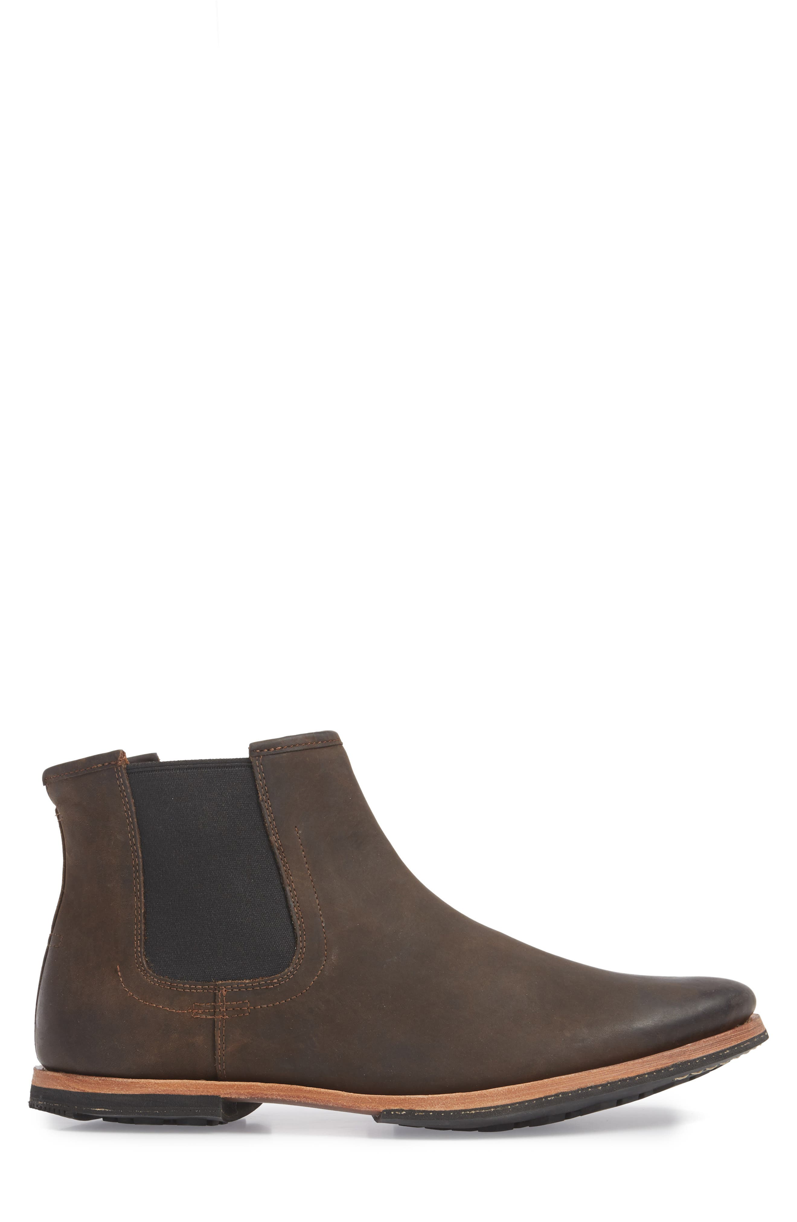 Wodehouse History Chelsea Boot,                             Alternate thumbnail 3, color,                             BROWN LEATHER