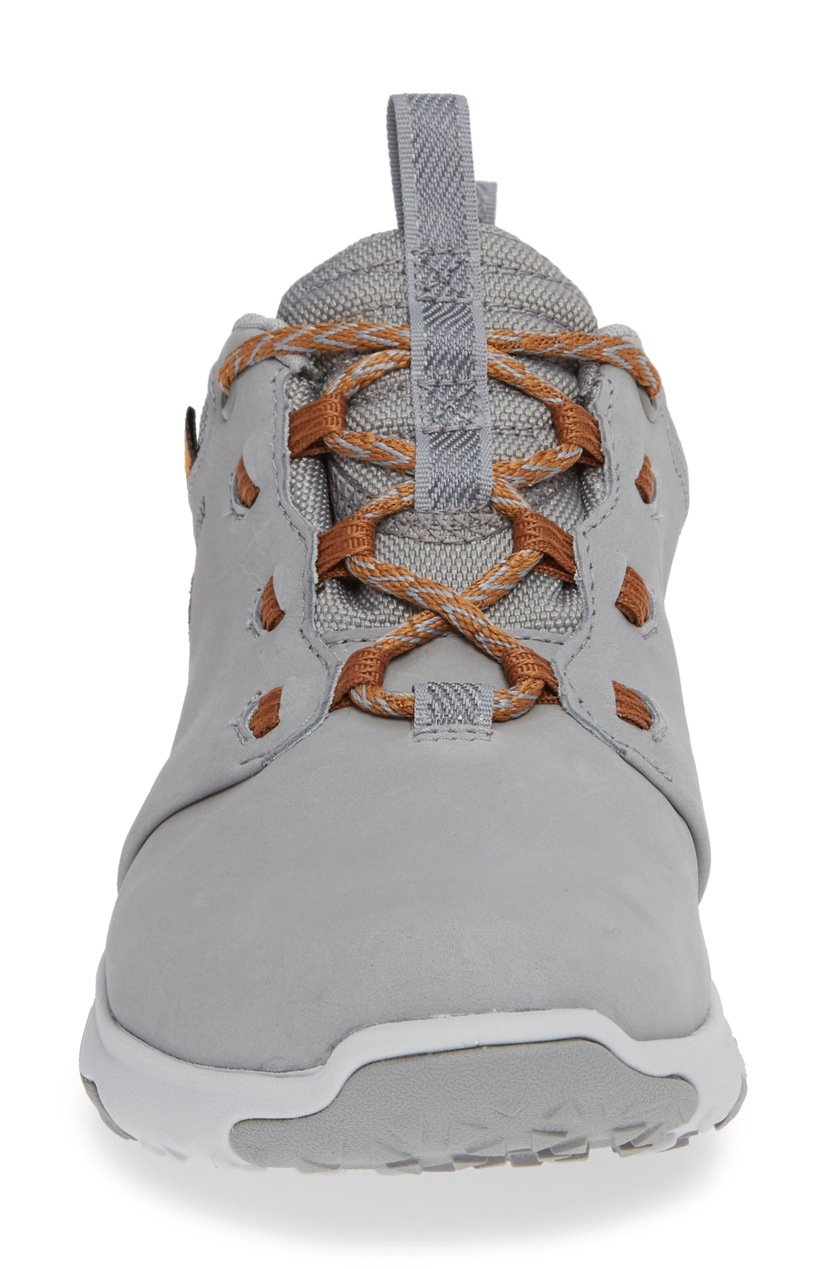 'Arrowood' Waterproof Sneaker,                             Alternate thumbnail 4, color,                             WILD DOVE LEATHER