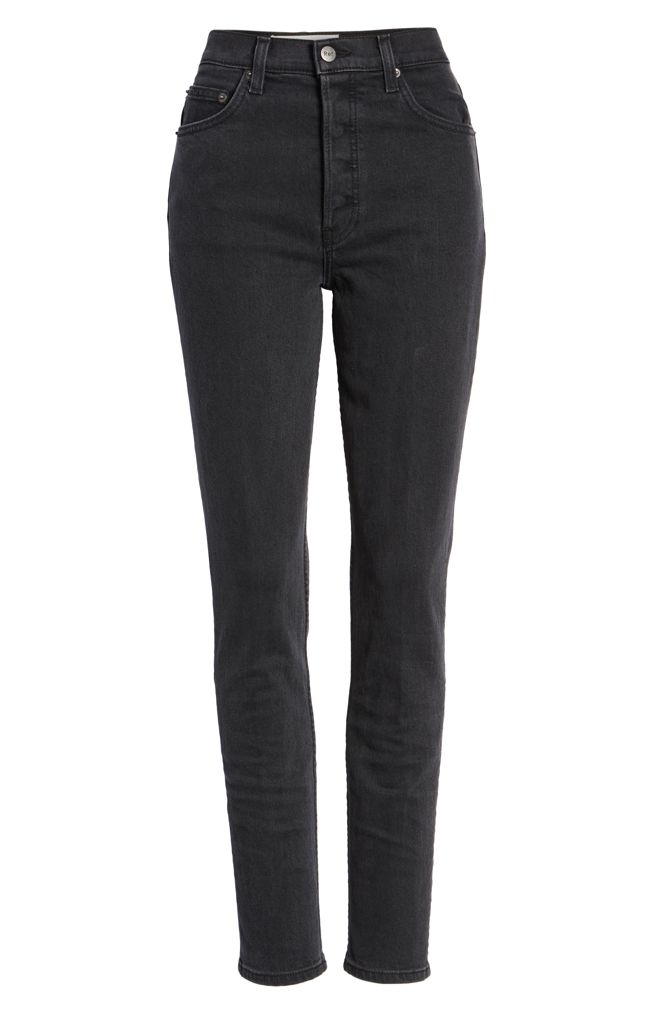 Serena High Waist Skinny Jeans,                             Alternate thumbnail 4, color,                             ARGENTINE