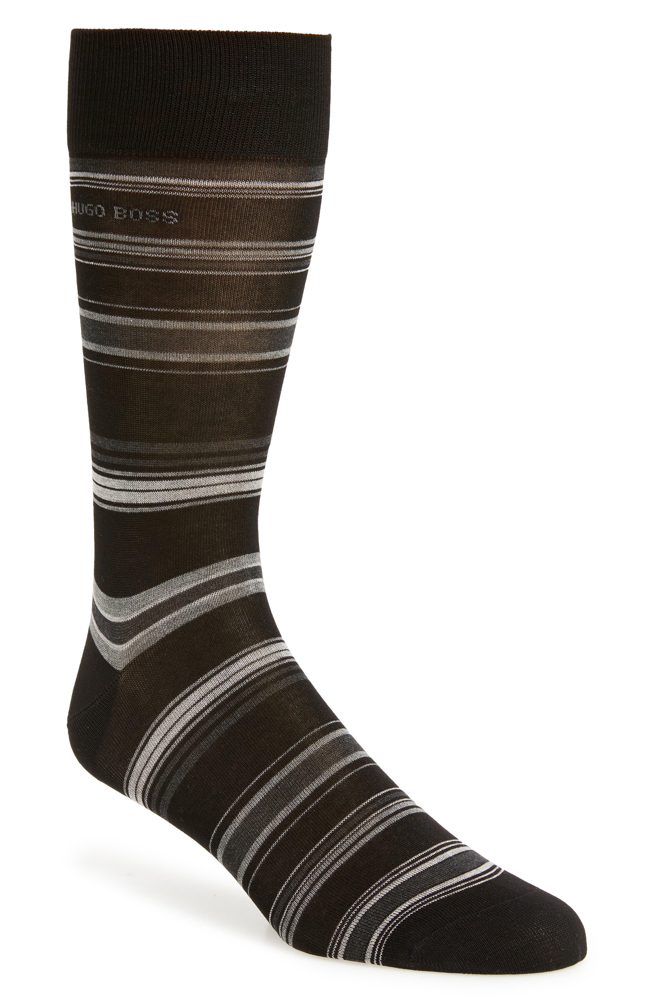 BOSS,                             Stripe Socks,                             Main thumbnail 1, color,                             001