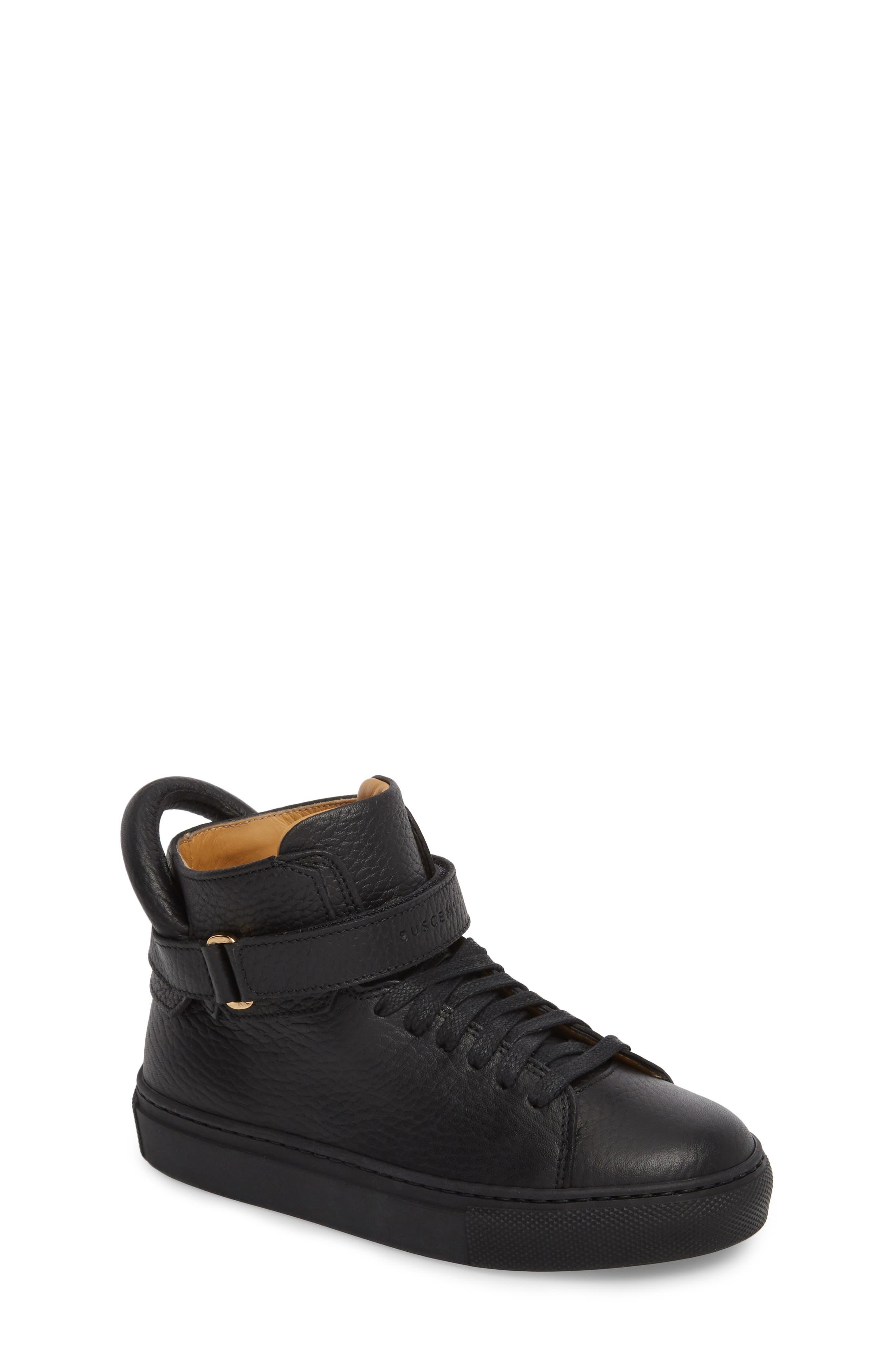 High Top Sneaker,                         Main,                         color, BLACK